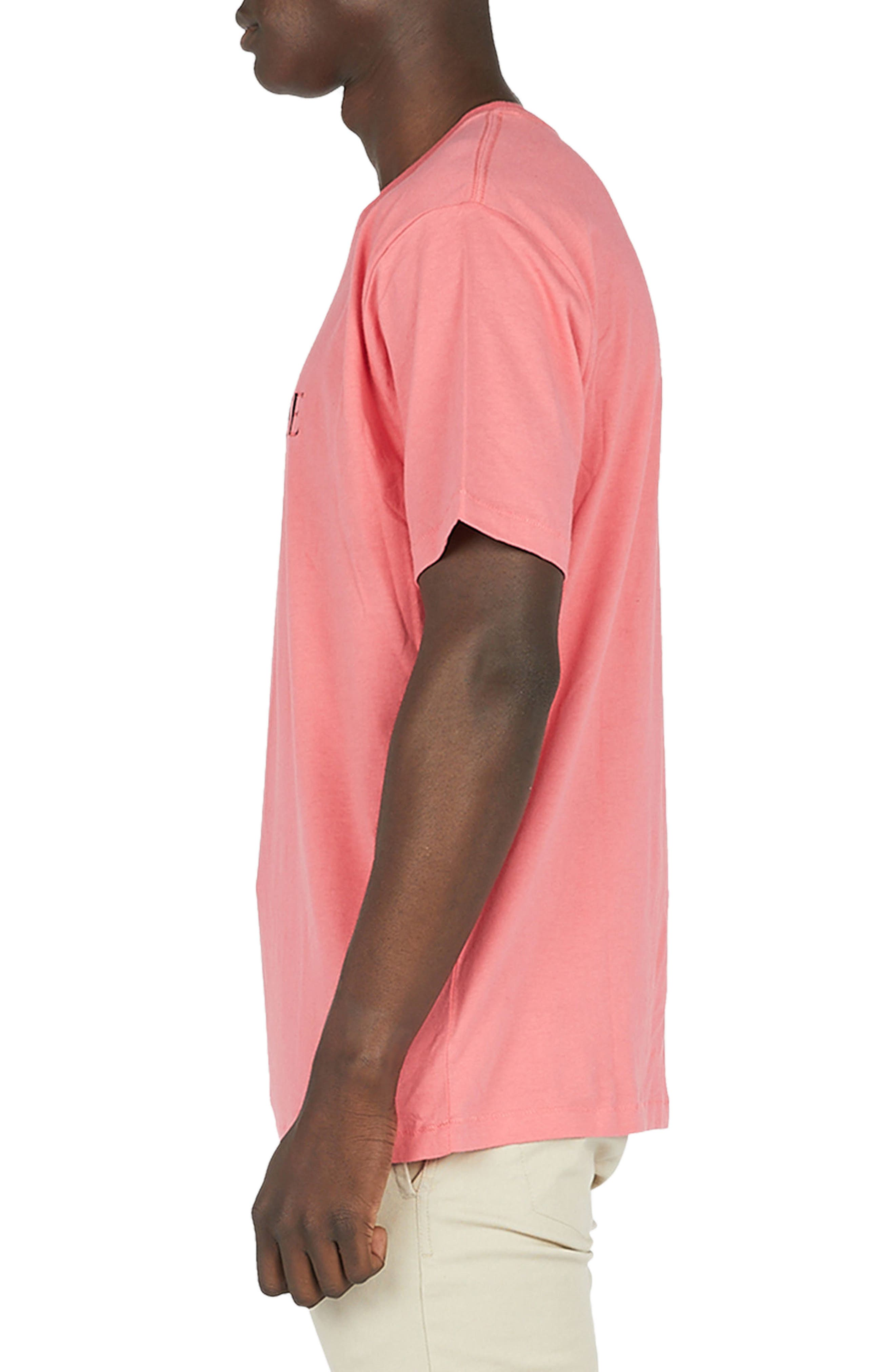 Paradise T-Shirt,                             Alternate thumbnail 3, color,                             Coral Pink