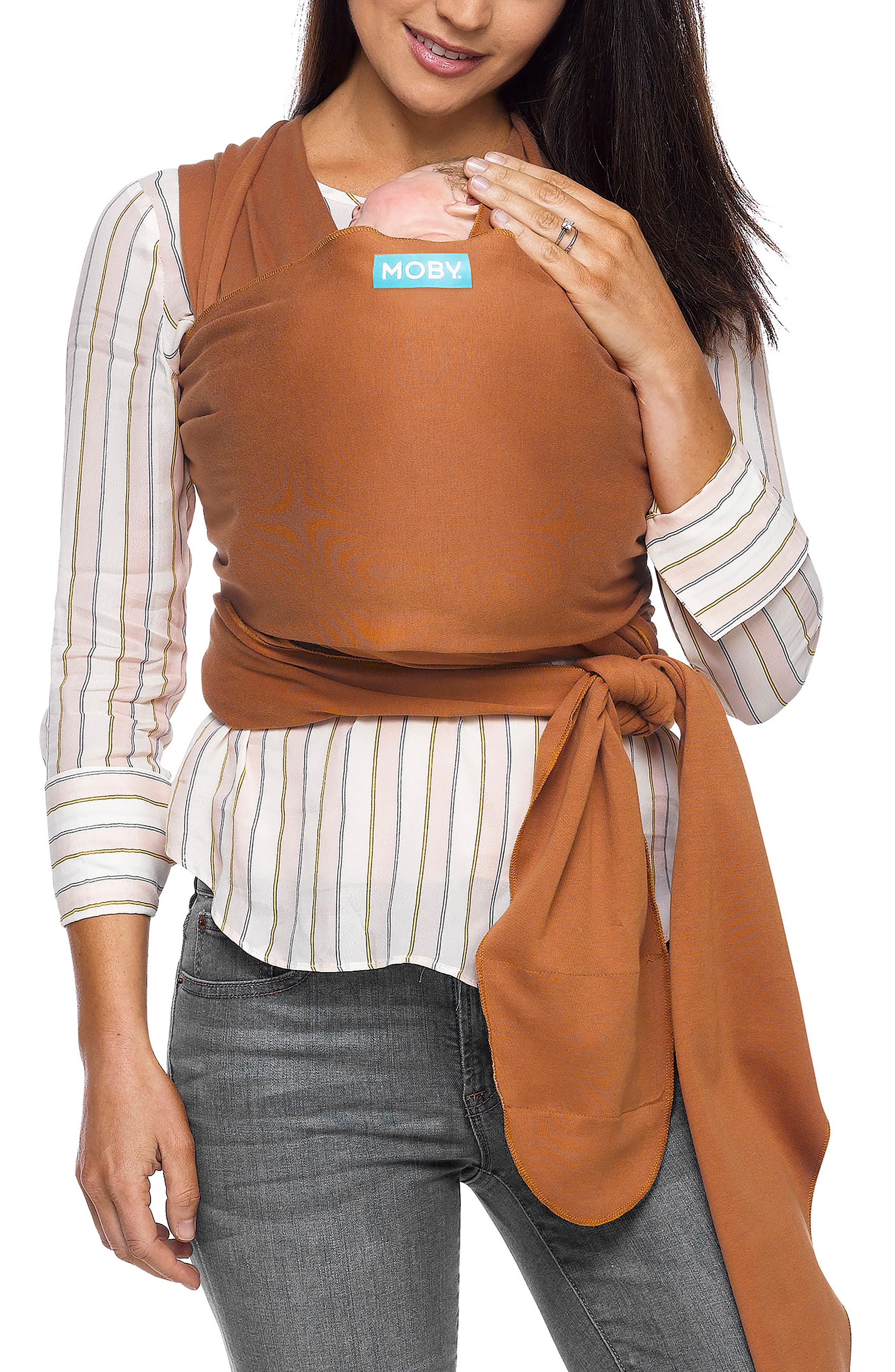 Wrap Baby Carrier,                         Main,                         color, Caramel
