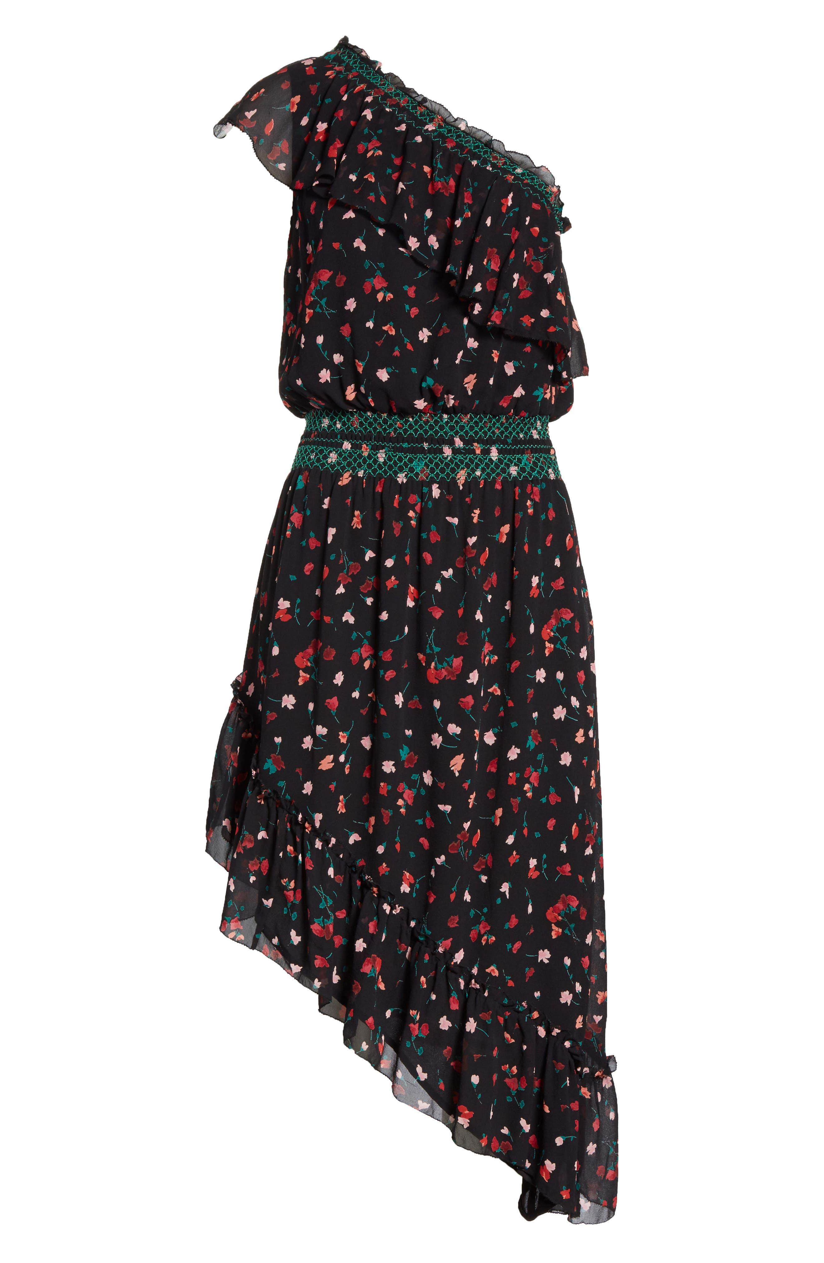 Alternate Image 6  - Joie Hafsa One-Shoulder Print Silk Dress