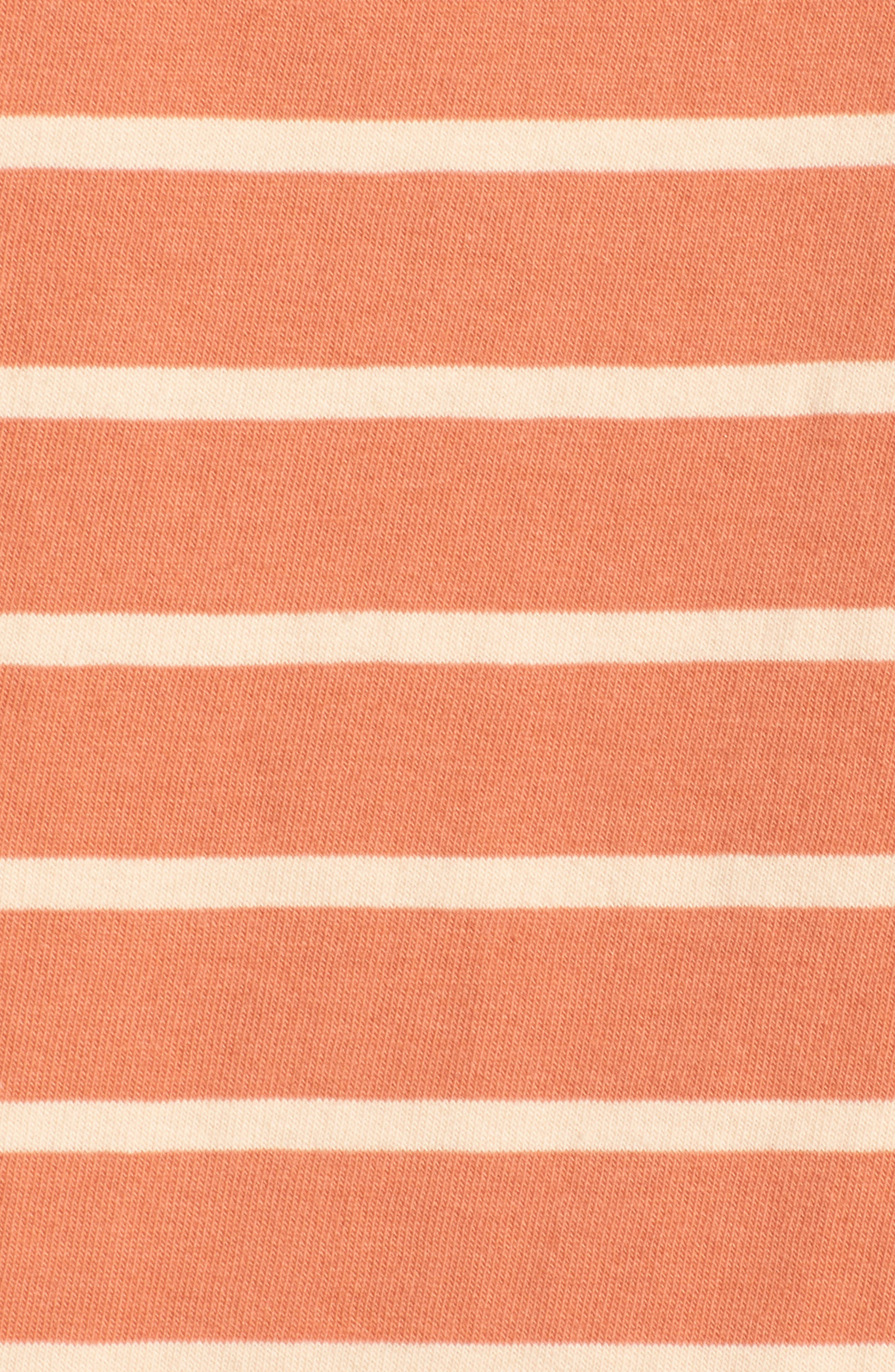 Stripe Boat Neck Top,                             Alternate thumbnail 6, color,                             Dried Coral
