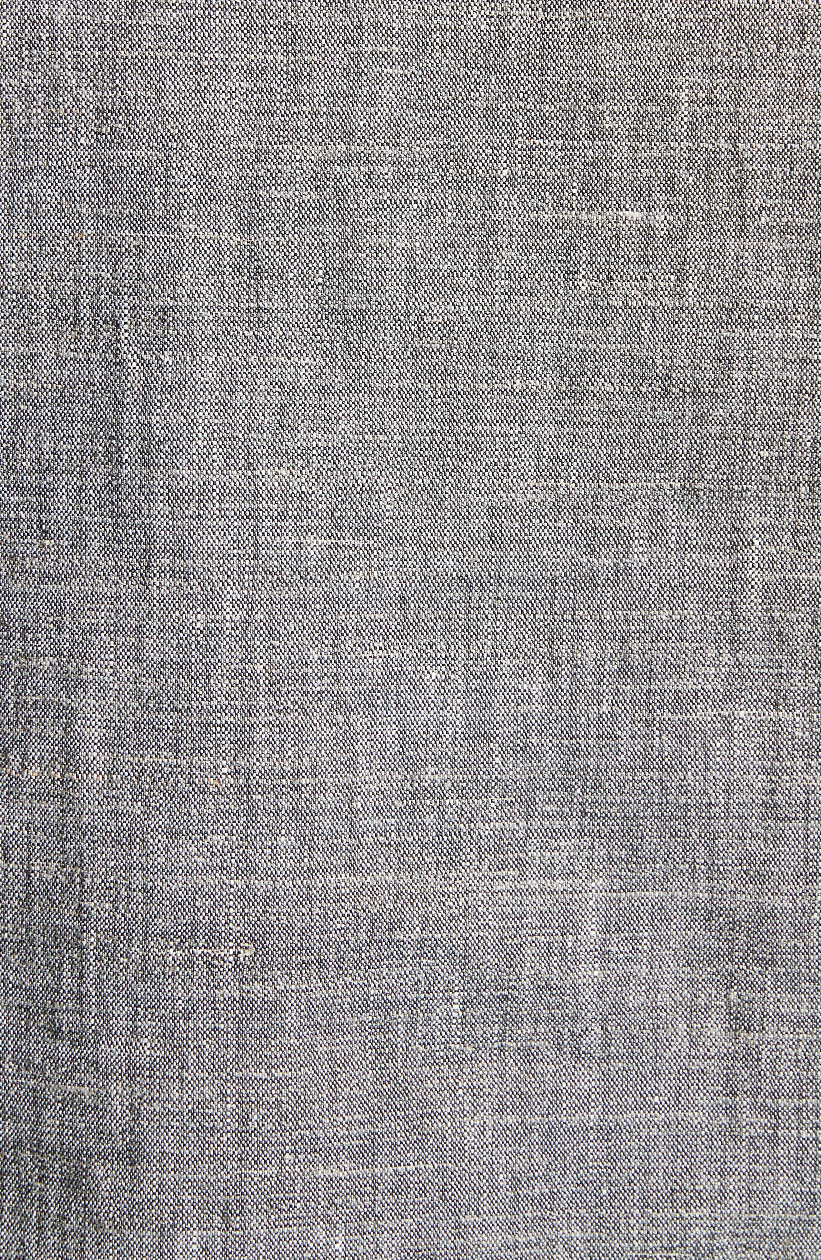 Split Neck Linen Blend Shift Dress,                             Alternate thumbnail 5, color,                             Black