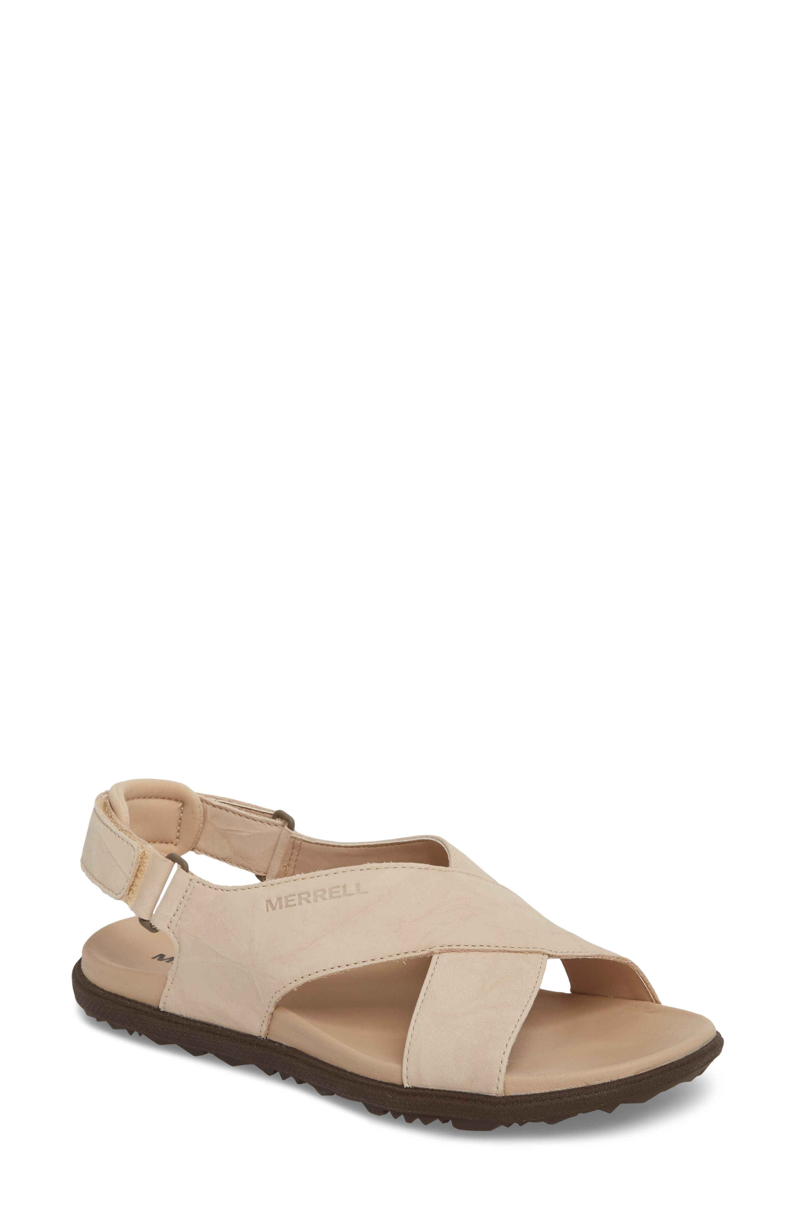 Around Town Sunvue Sandal,                             Main thumbnail 1, color,                             Natural Tan