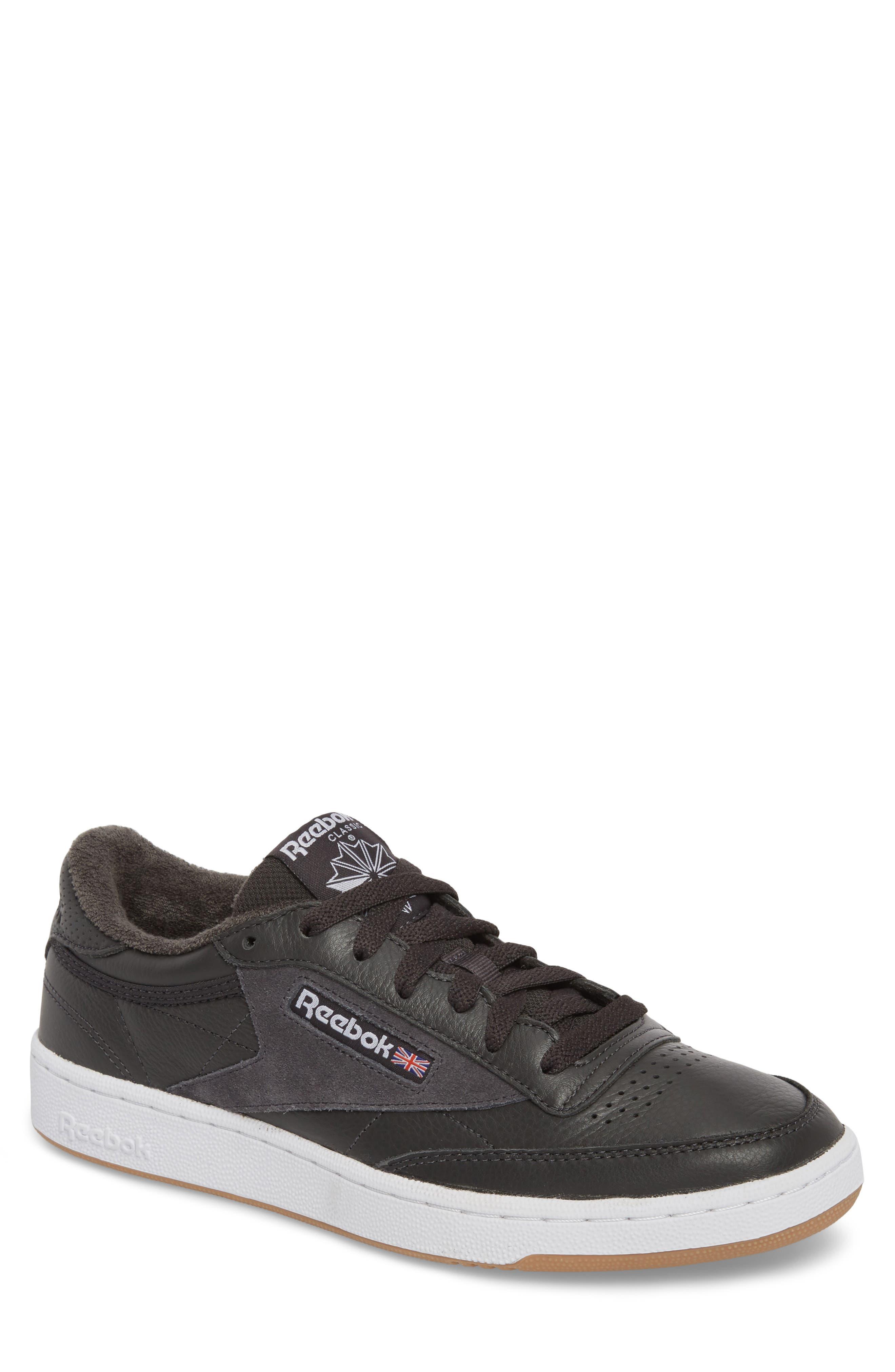Club C 85 ESTL Sneaker,                             Main thumbnail 1, color,                             Coal/ White/ Washed Blue