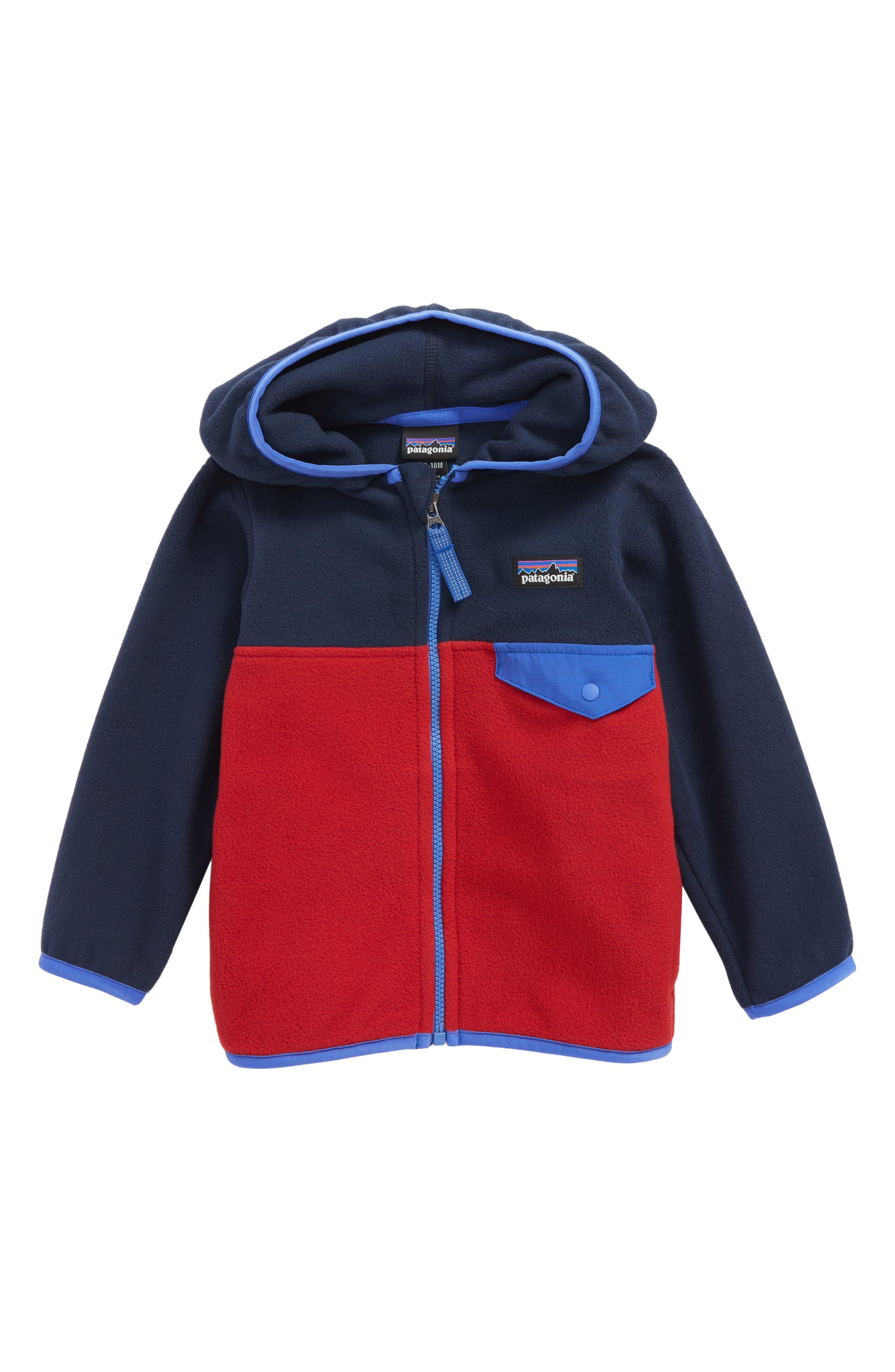 Alternate Image 1 Selected - Patagonia Micro D® Snap-T® Fleece Jacket (Baby Boys)