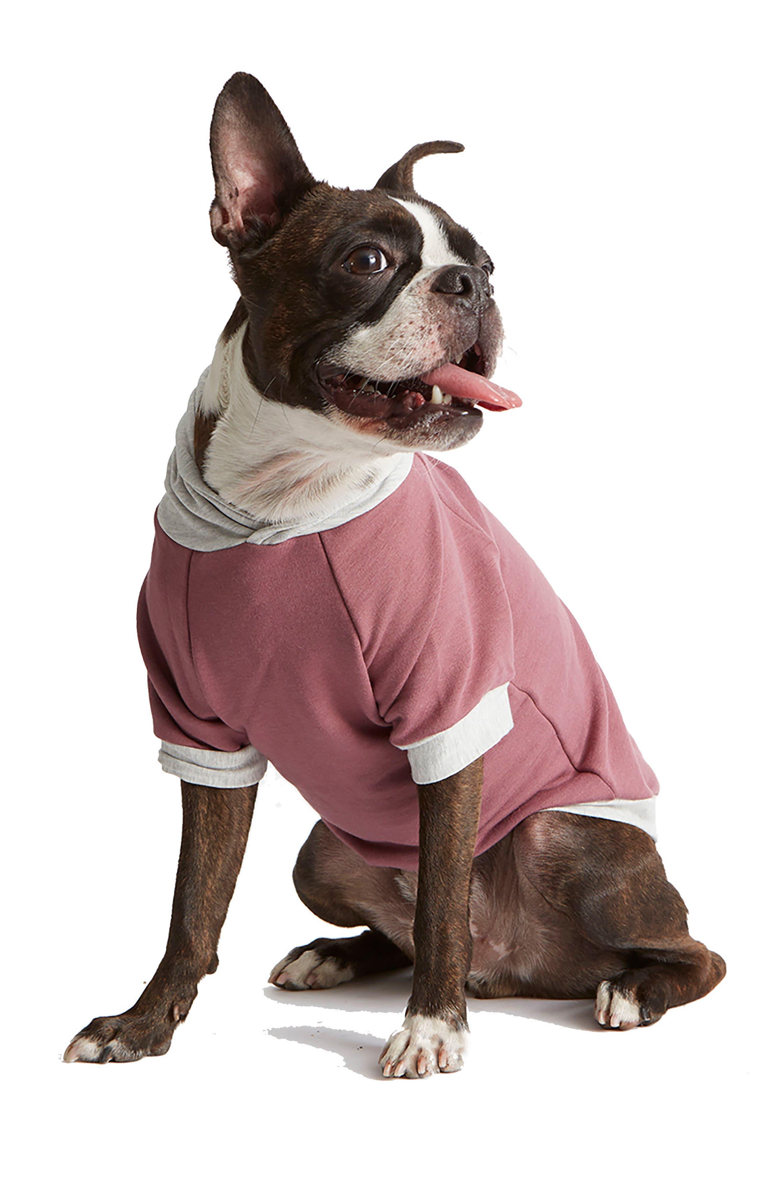 Fleece Dog Hoodie,                         Main,                         color, Mauve