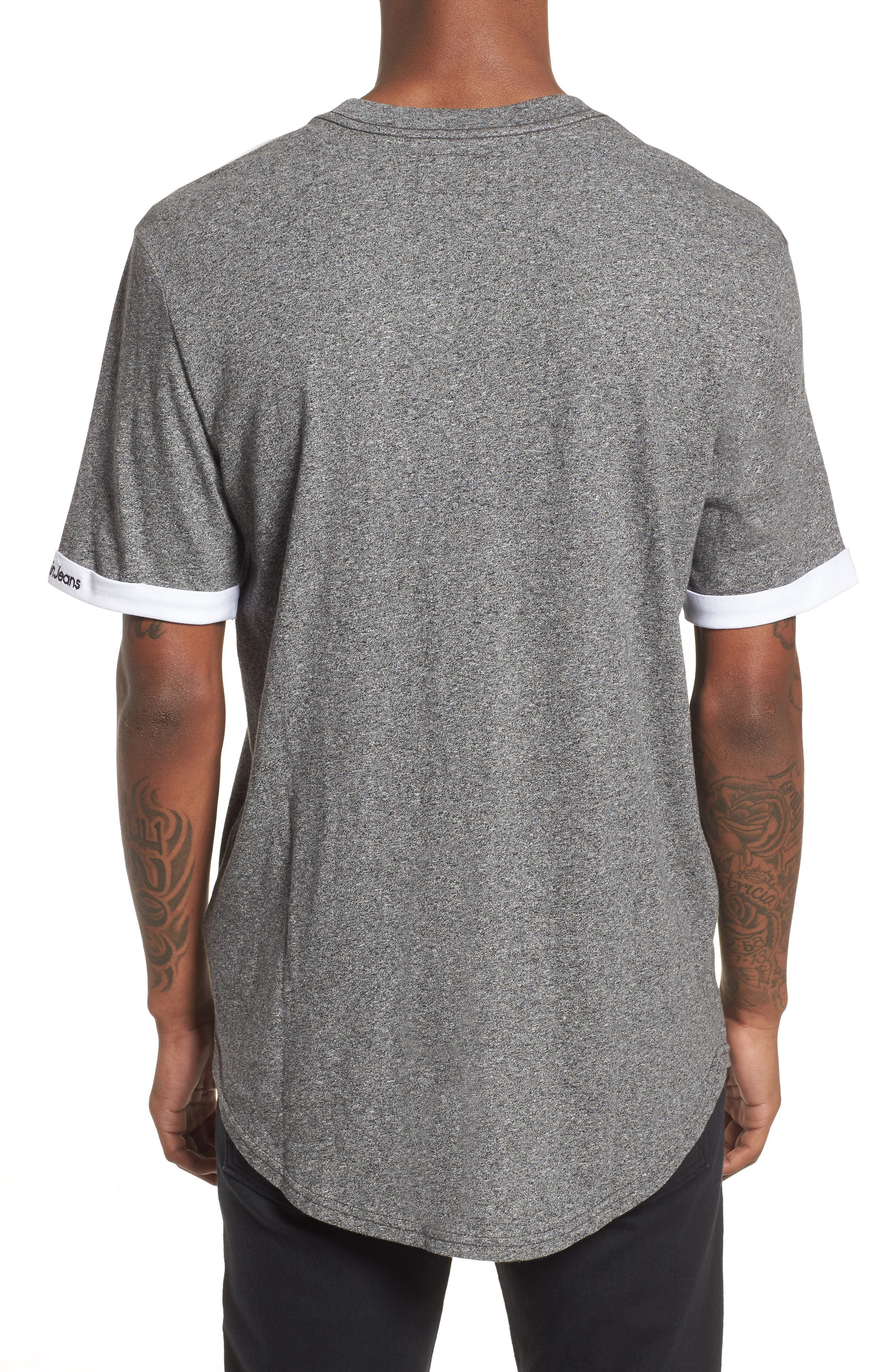 Rolled Cuff Pocket T-Shirt,                             Alternate thumbnail 2, color,                             Granite Heather