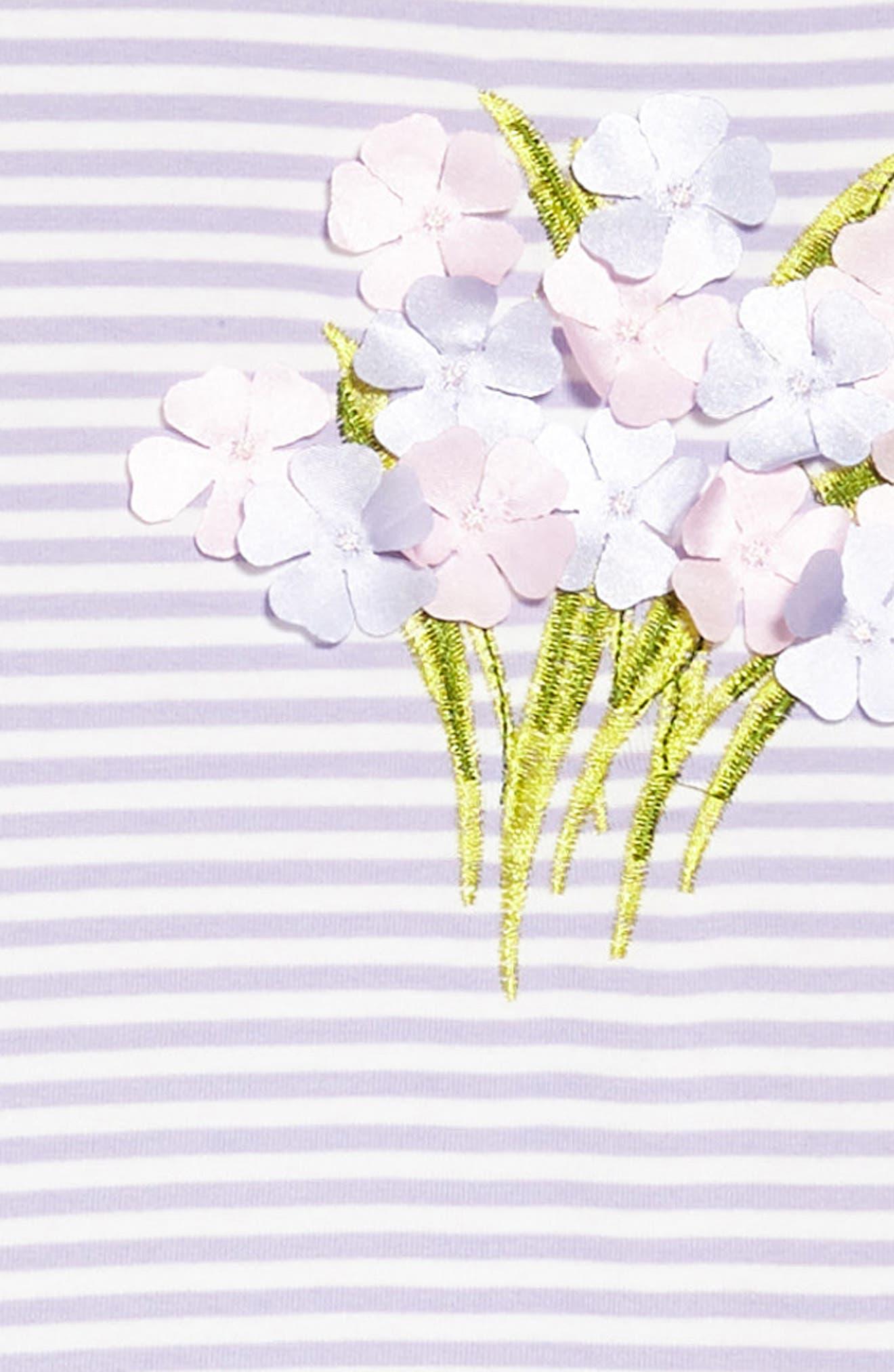 Sleeveless Tutu Dress,                             Alternate thumbnail 3, color,                             Lavender/ White