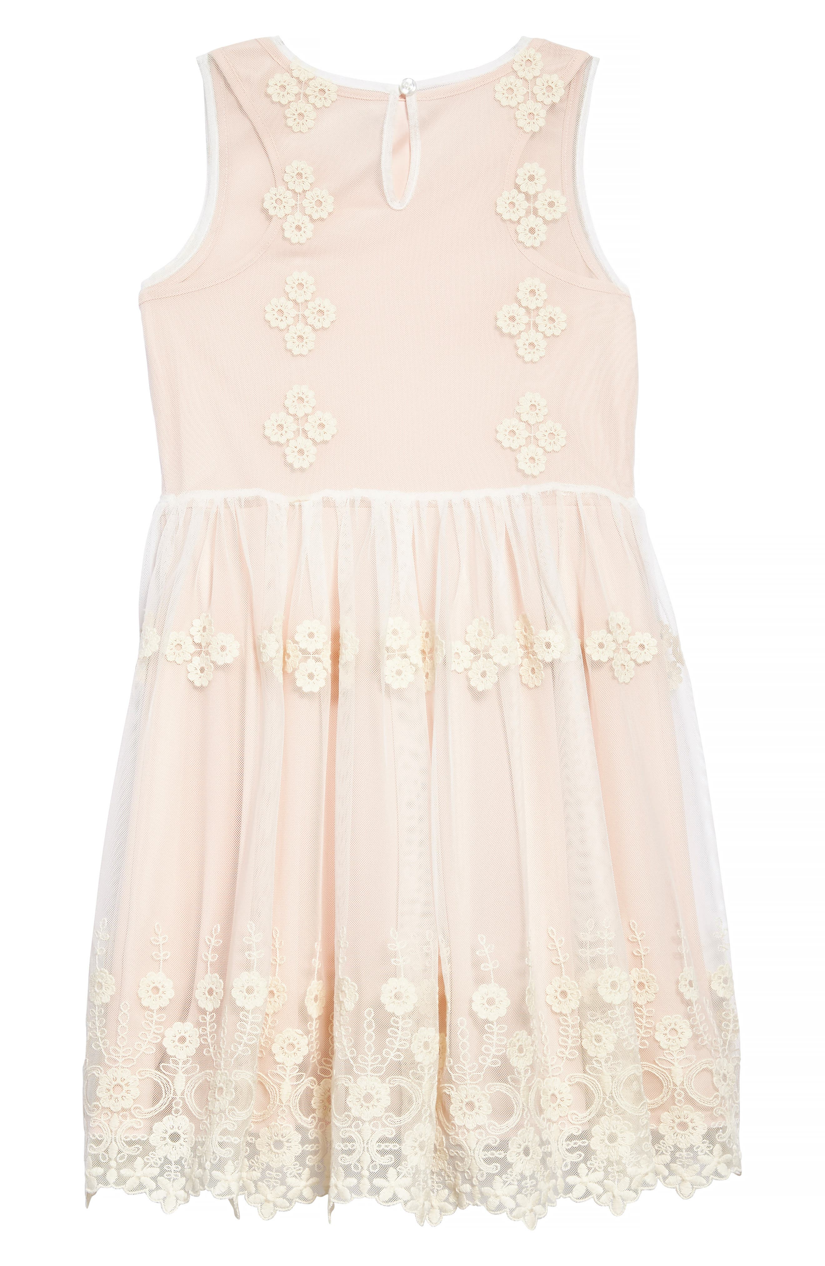 Embroidered Mesh Dress,                             Alternate thumbnail 2, color,                             Pink