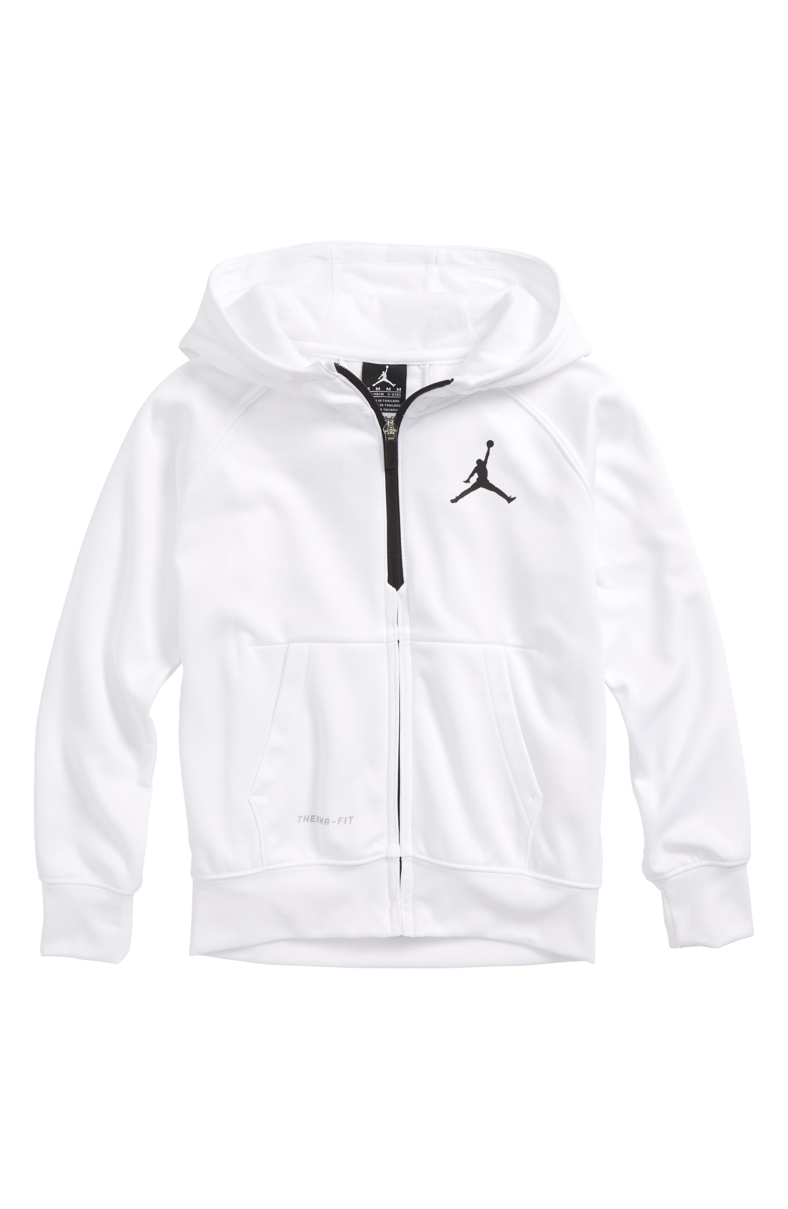 Jordan Dry 23 Alpha FZ Therma-FIT Zip Hoodie,                             Main thumbnail 1, color,                             White