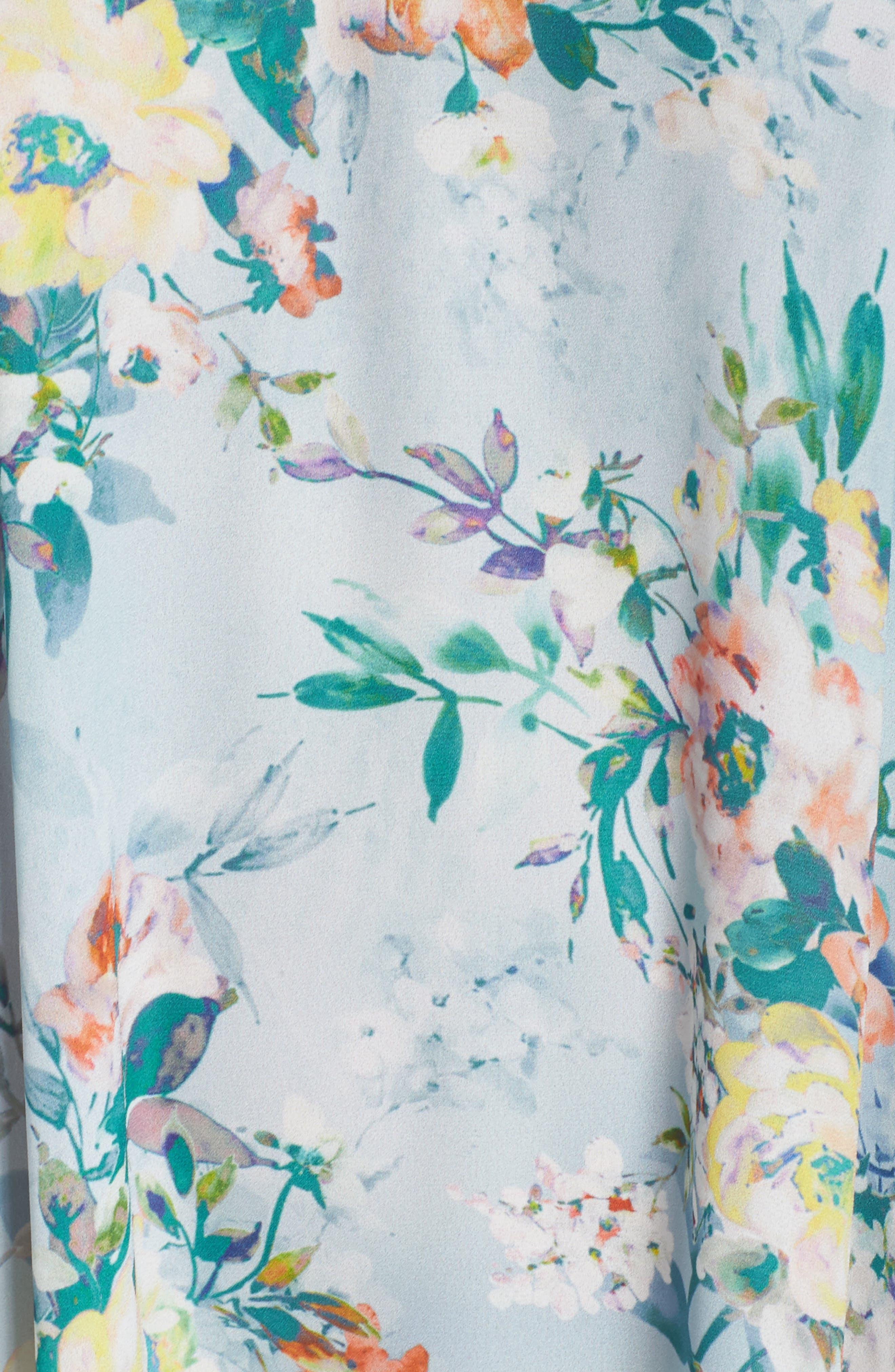 Femme Flora Cover-Up Dress,                             Alternate thumbnail 5, color,                             Blue Multi