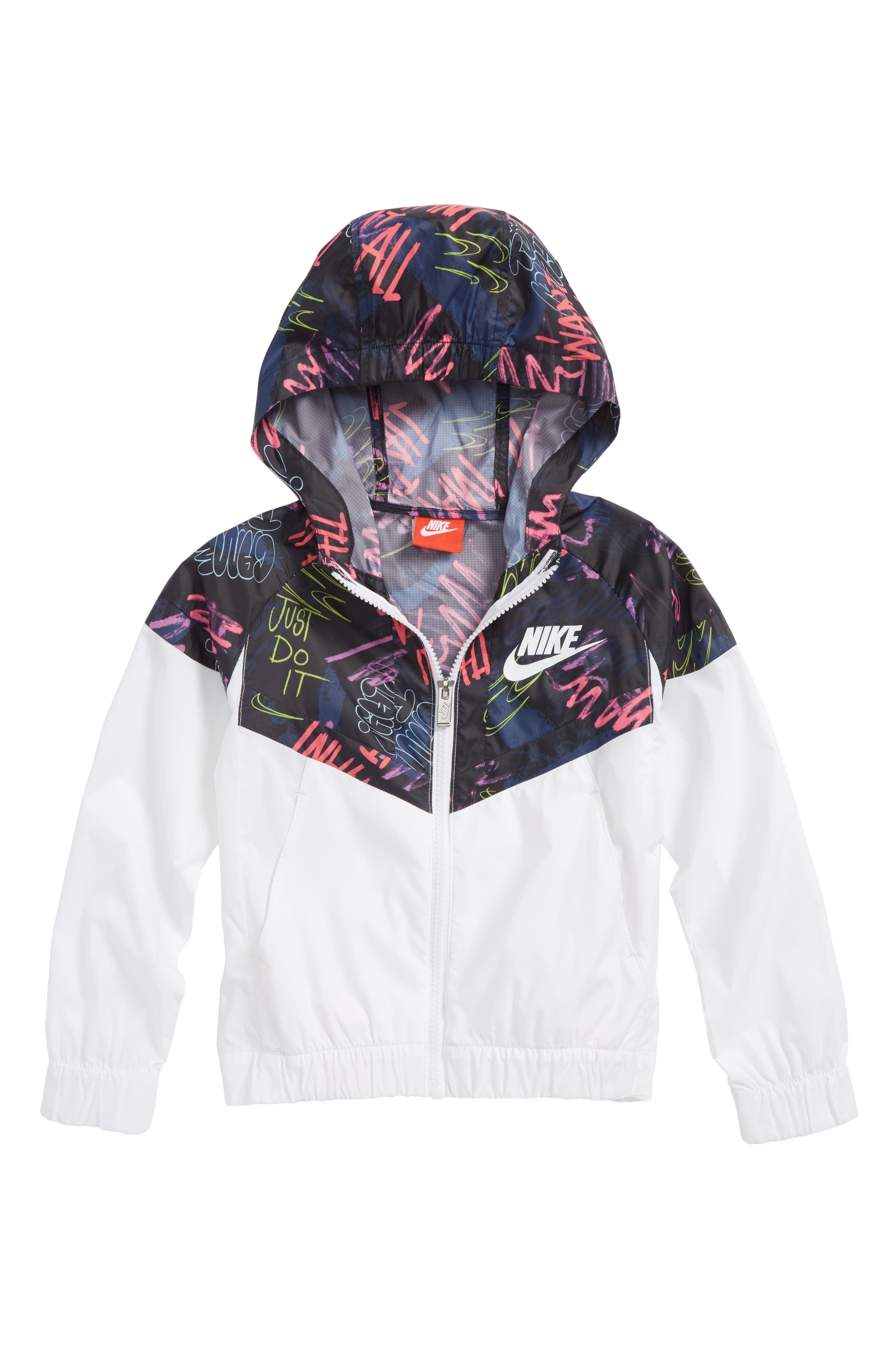 Nike AOP Windrunner Water Resistant Hooded Jacket (Toddler Girls & Little Girls)