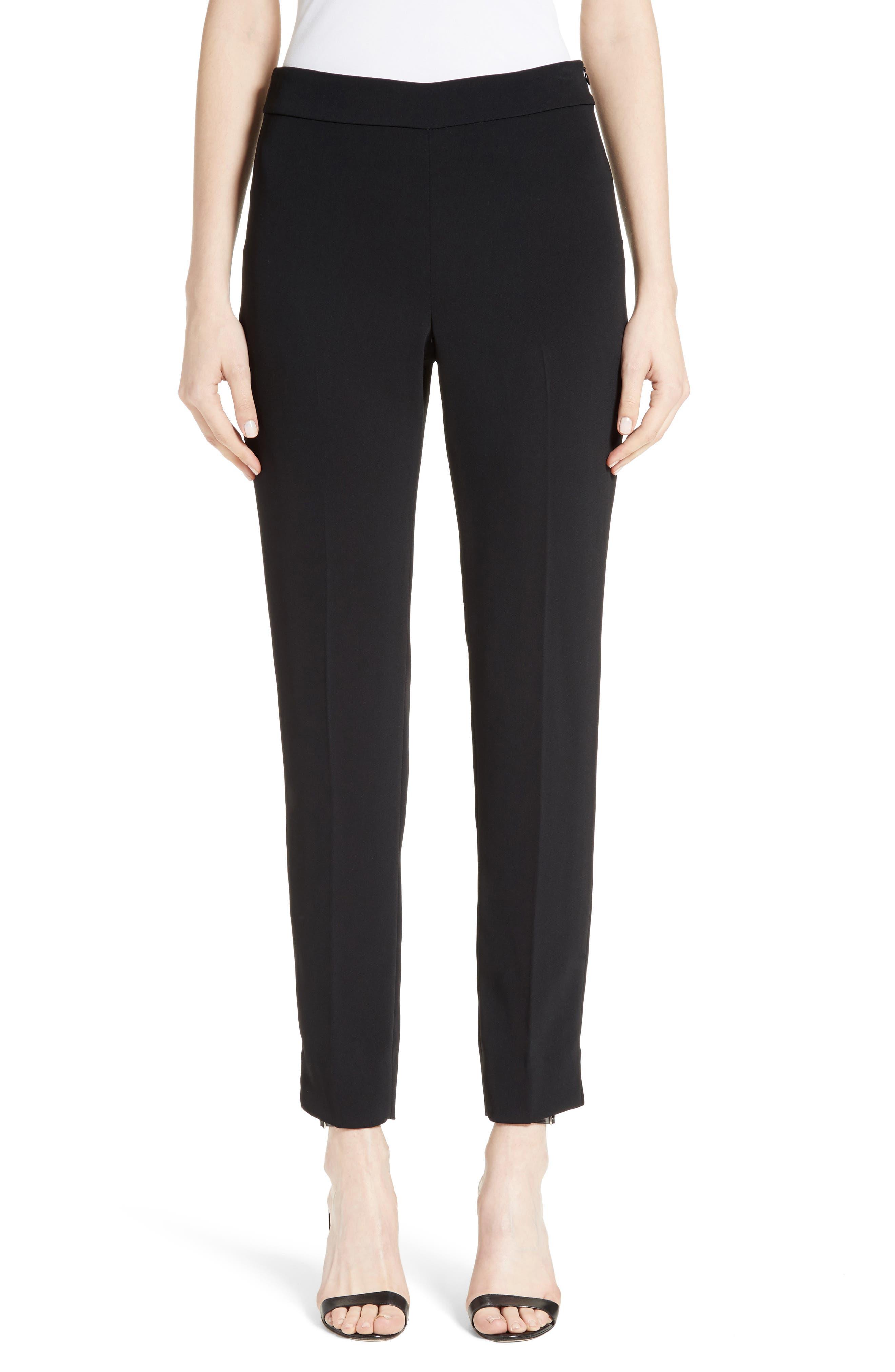 Alternate Image 1 Selected - St. John Collection Alexa Scuba Bi-Stretch Slim Crop Pants