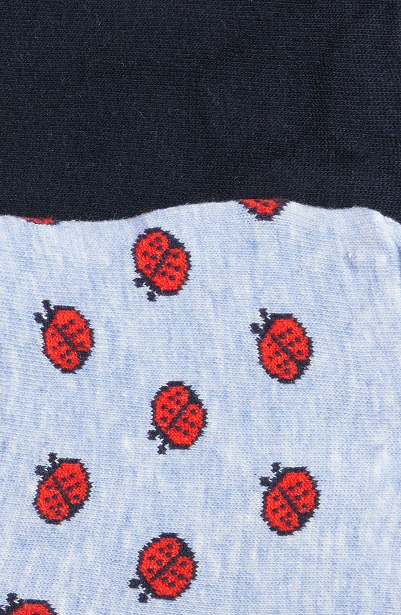 2-Pack Ladybug No-Show Socks,                             Alternate thumbnail 2, color,                             Blue