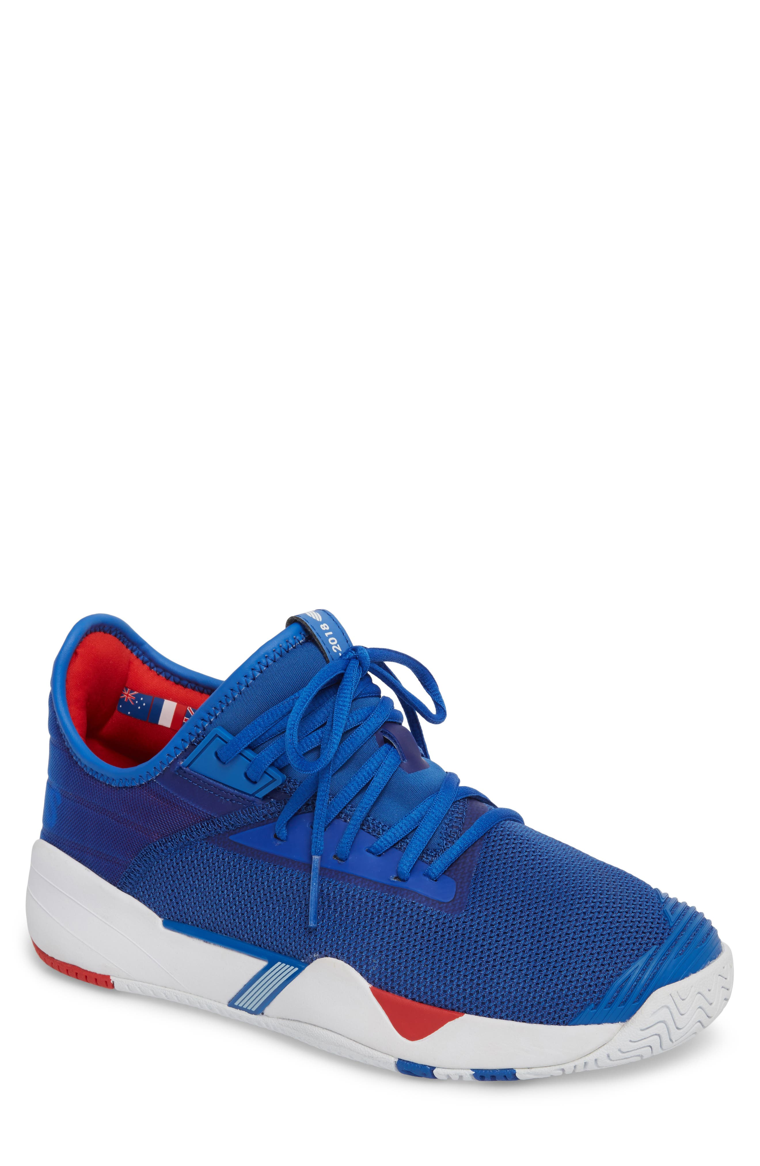 K-SWISS Si-2018 Mid Top Sneaker in Strong Blue/White/ Red