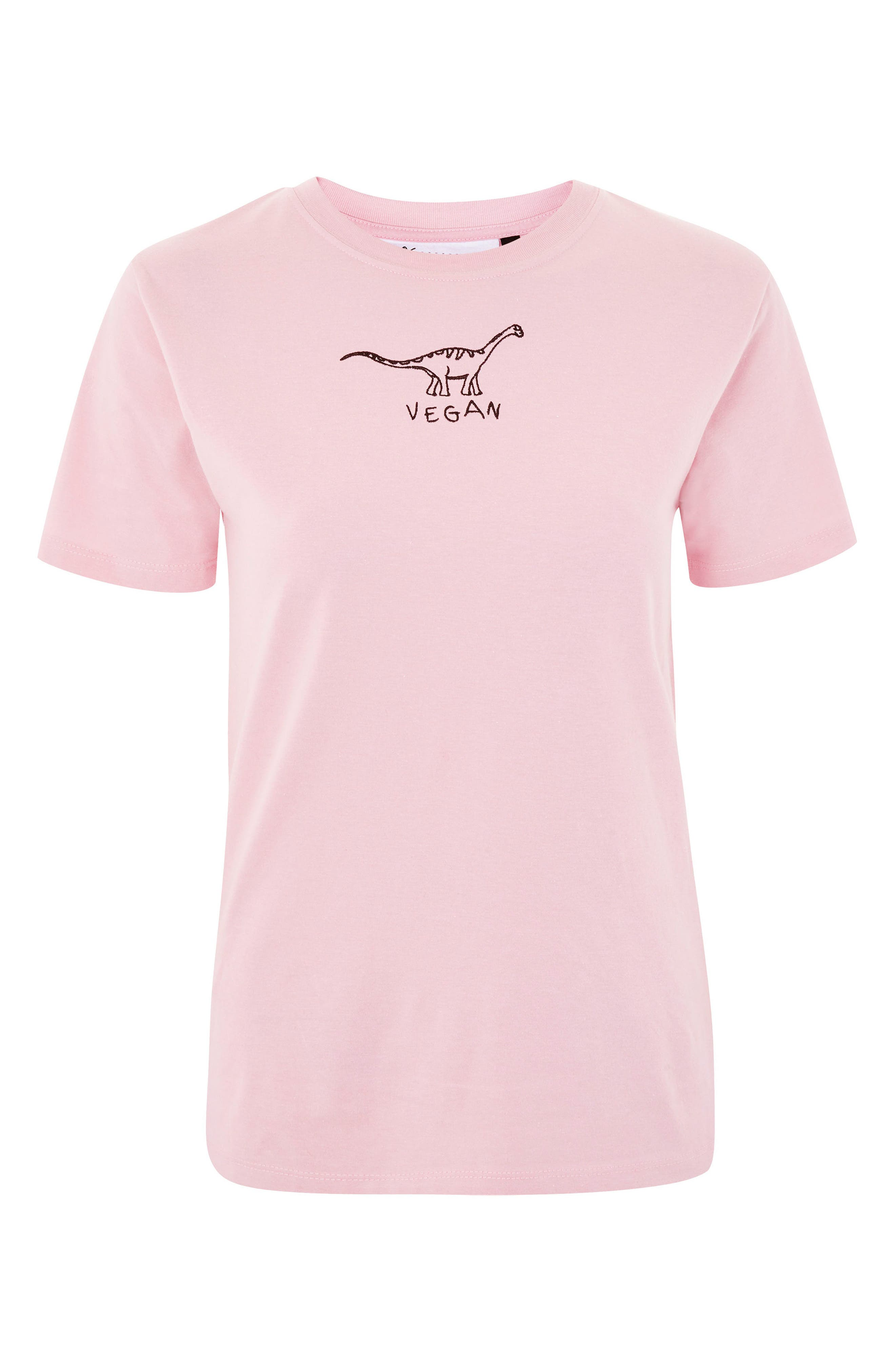 by Tee & Cake Vegan Dino T-Shirt,                             Alternate thumbnail 4, color,                             Pink