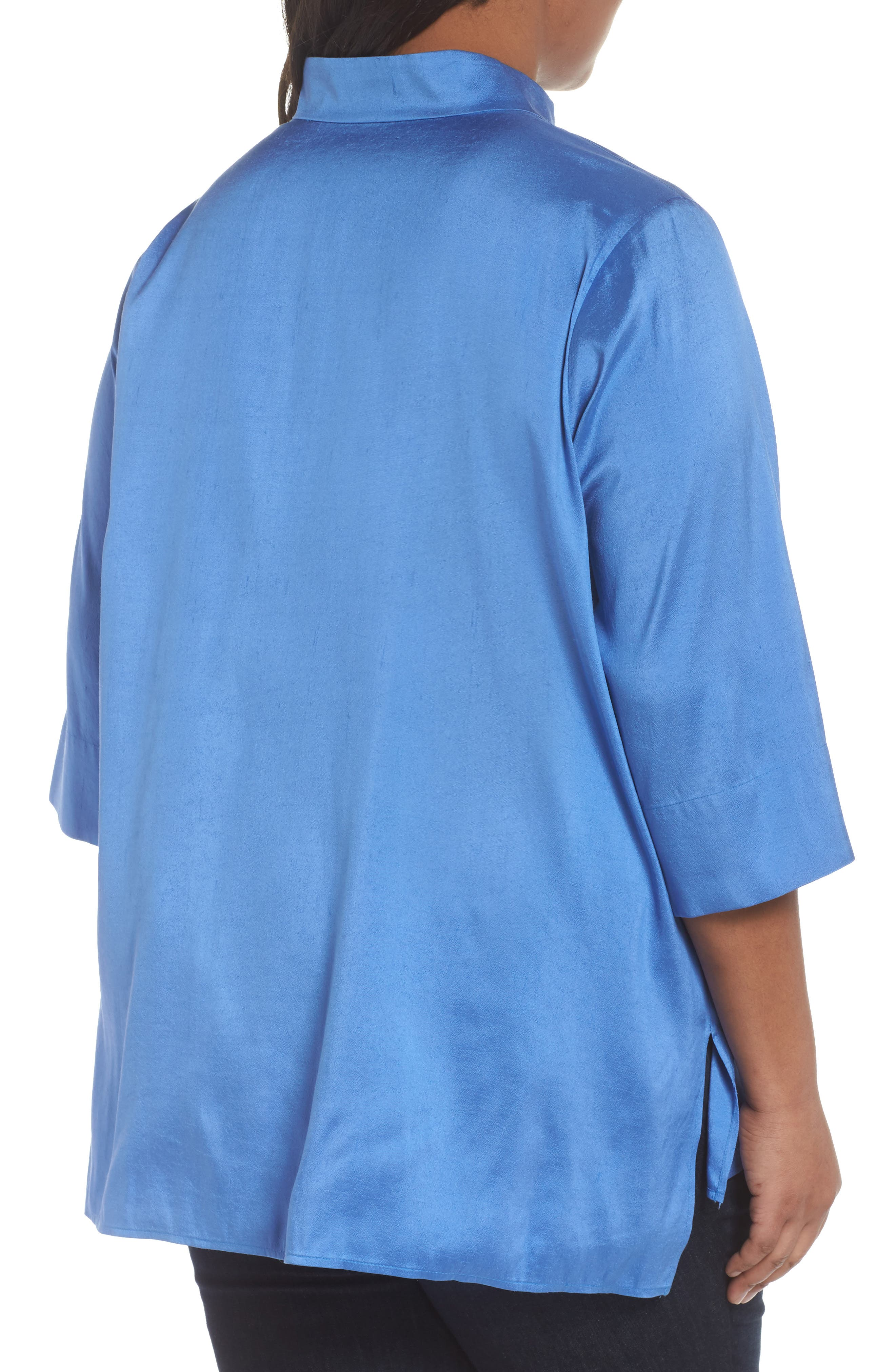 Notch Collar Shirt,                             Alternate thumbnail 2, color,                             Blue Bell