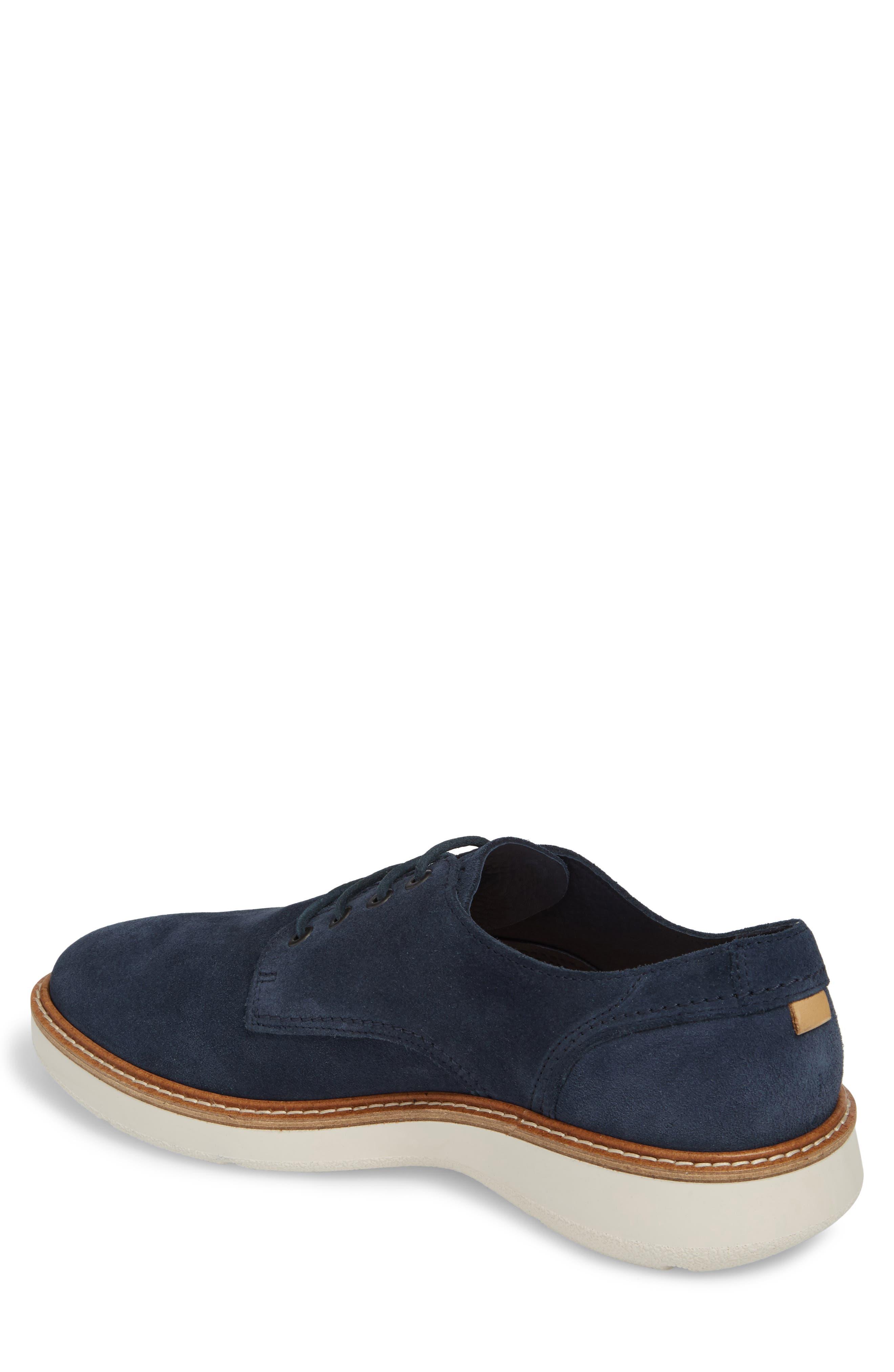 Aurora Hybrid Plain Toe Derby,                             Alternate thumbnail 2, color,                             Marine Leather