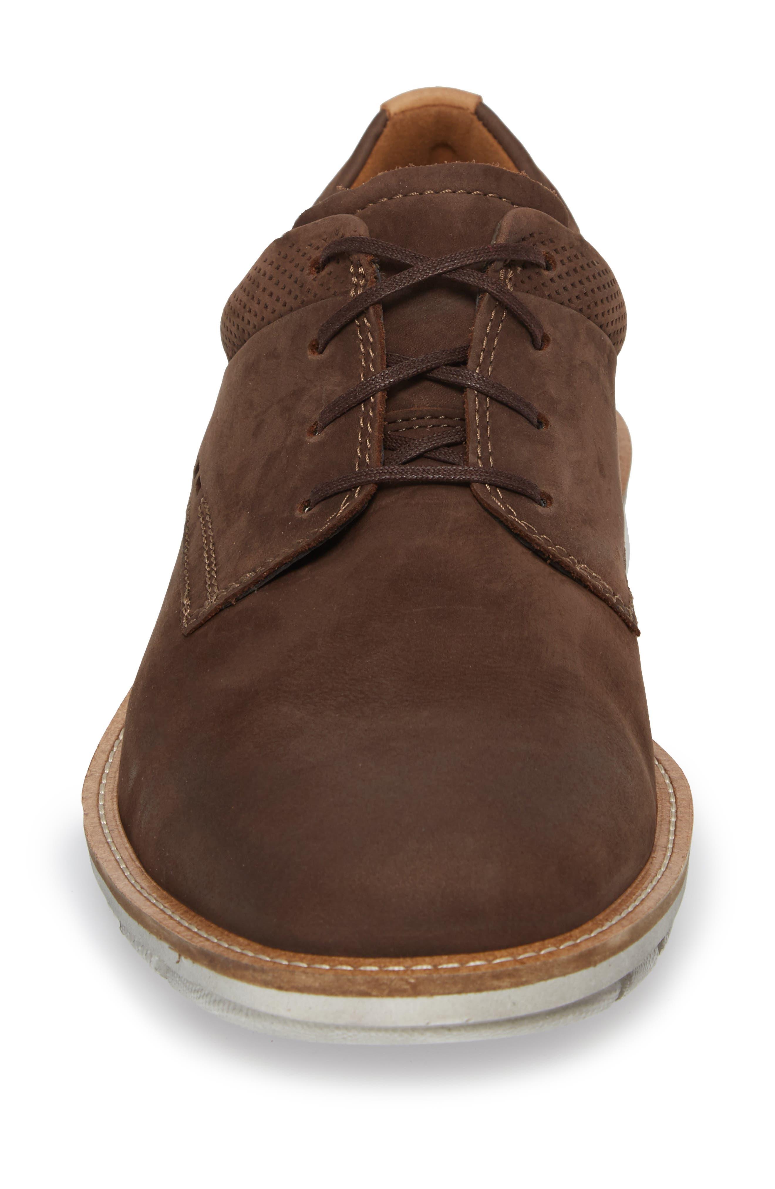 Jeremy Hybrid Plain Toe Derby,                             Alternate thumbnail 4, color,                             Coffee Leather