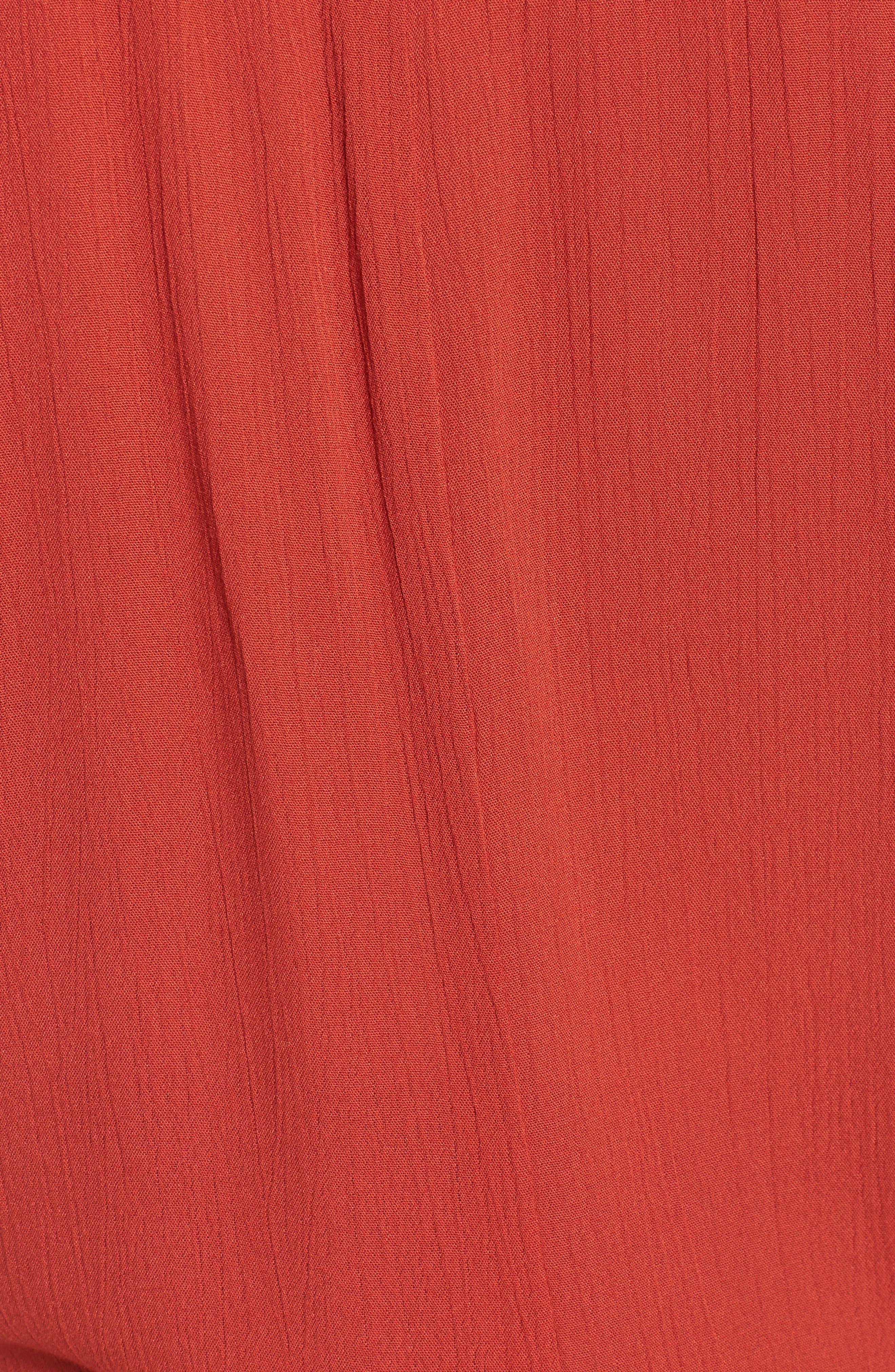 Potenza Tie Waist Tunic,                             Alternate thumbnail 6, color,                             Rust