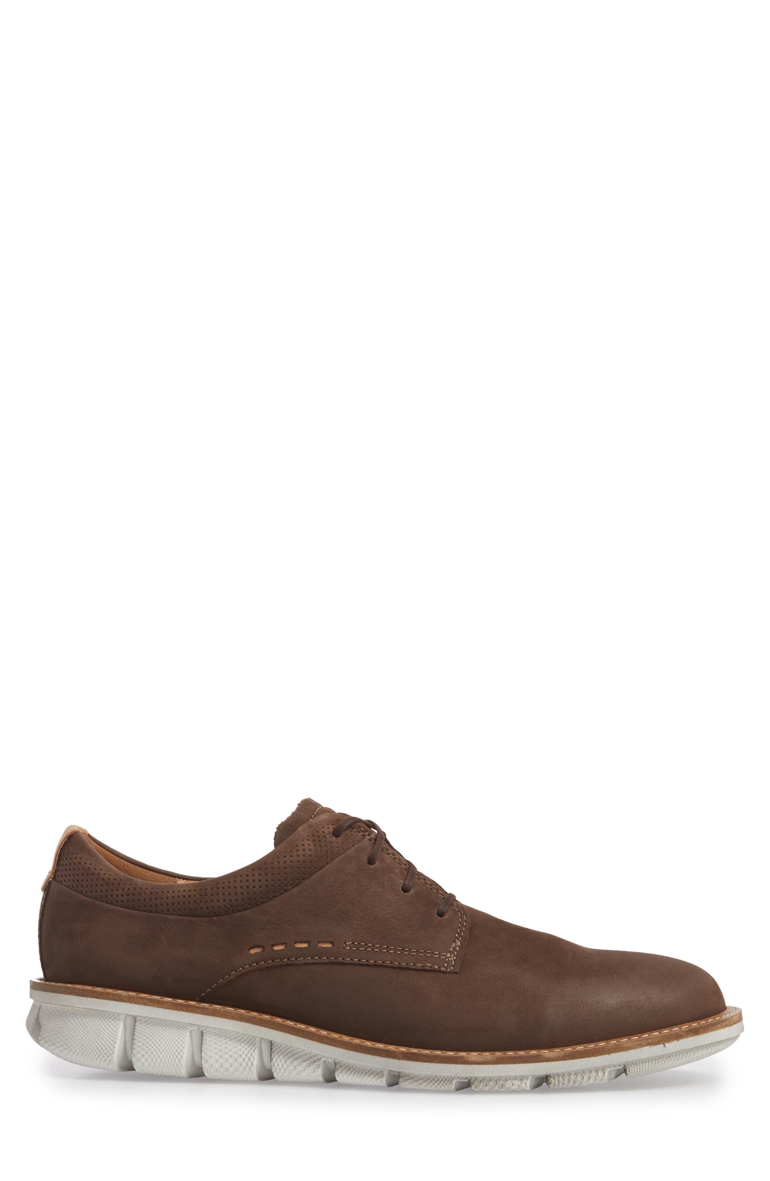 Jeremy Hybrid Plain Toe Derby,                             Alternate thumbnail 3, color,                             Coffee Leather
