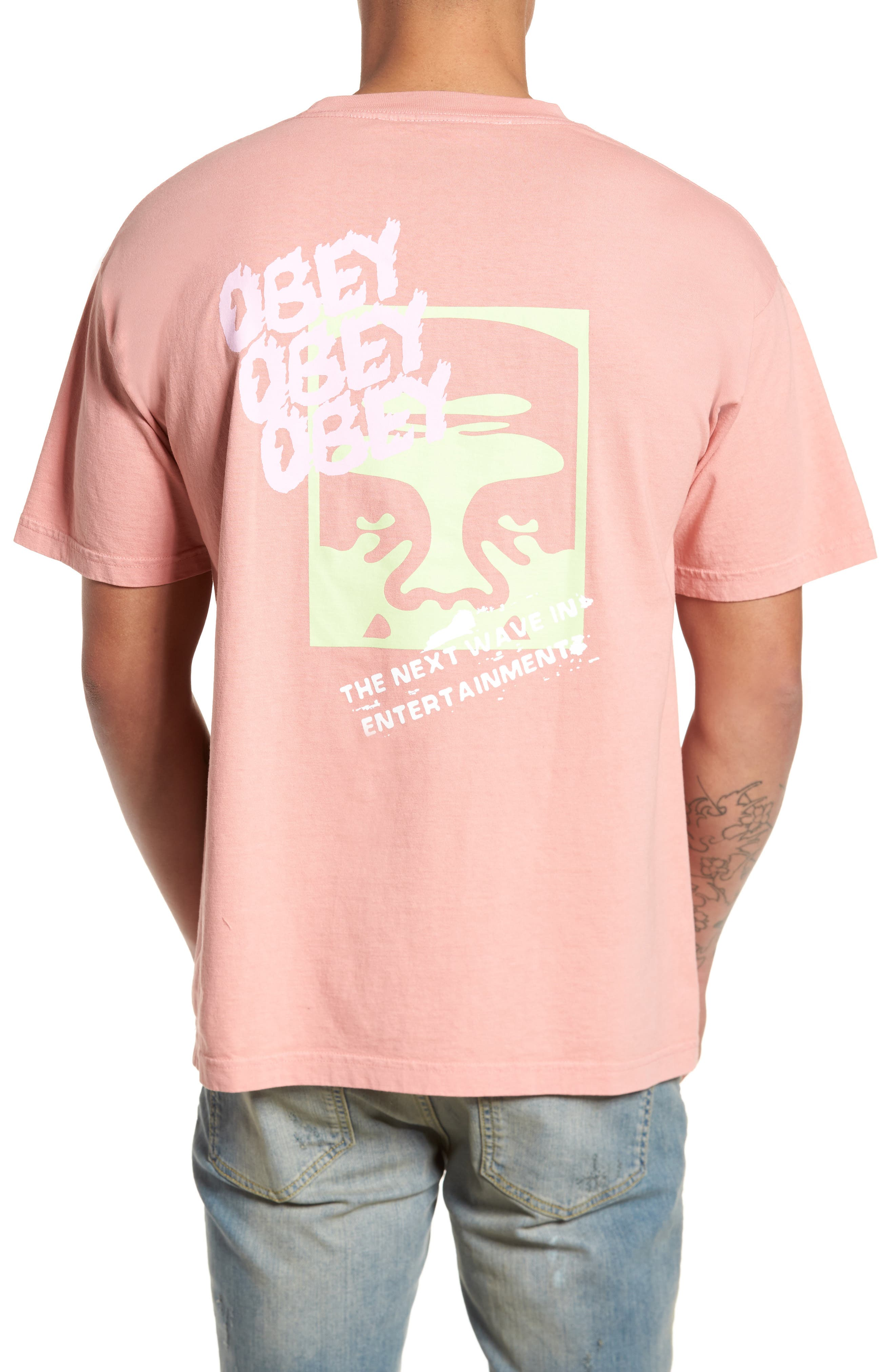 The Next Wave Boxy T-Shirt,                             Alternate thumbnail 2, color,                             Coral