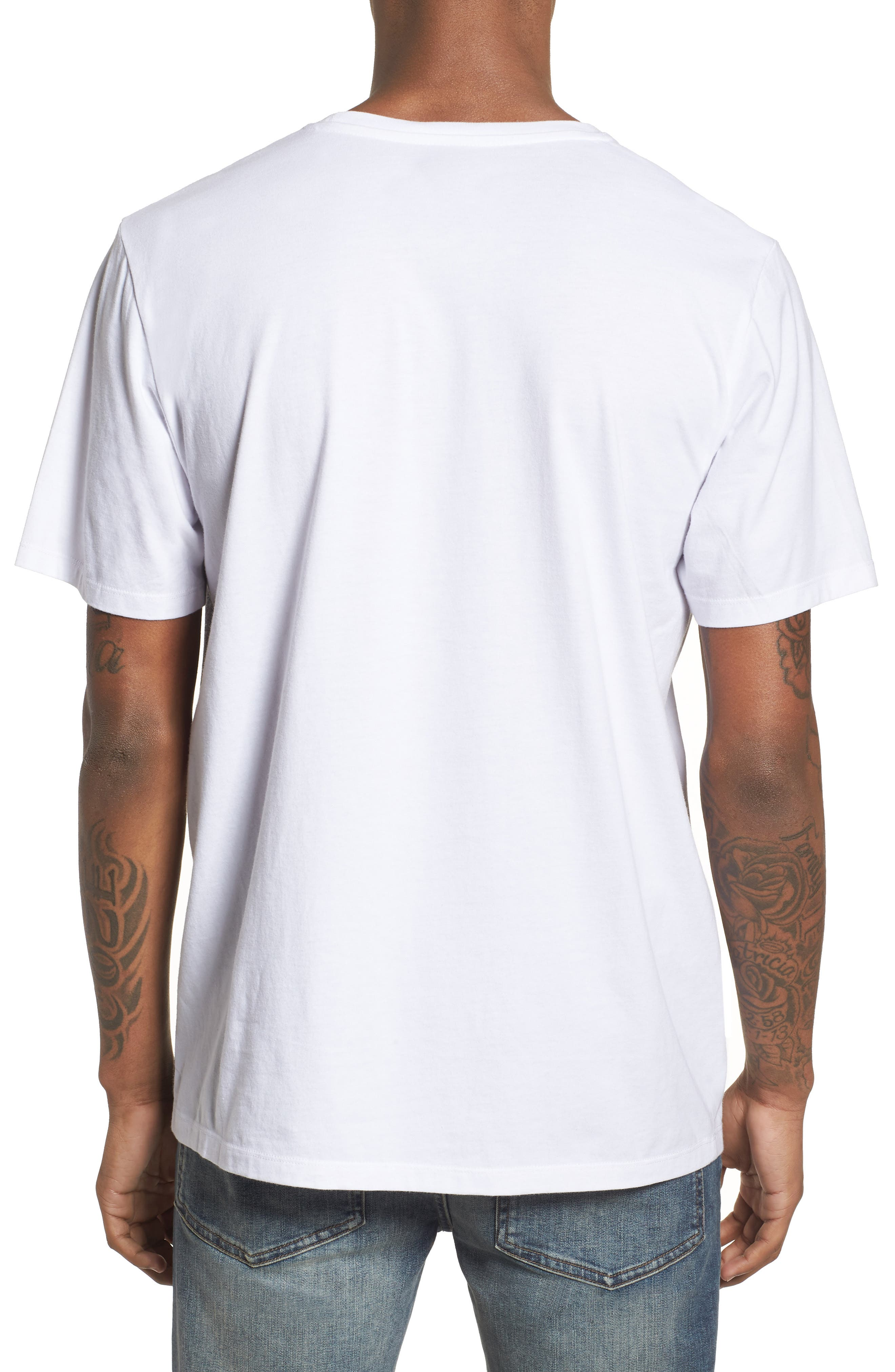 Colorblocked Logo T-Shirt,                             Alternate thumbnail 2, color,                             White
