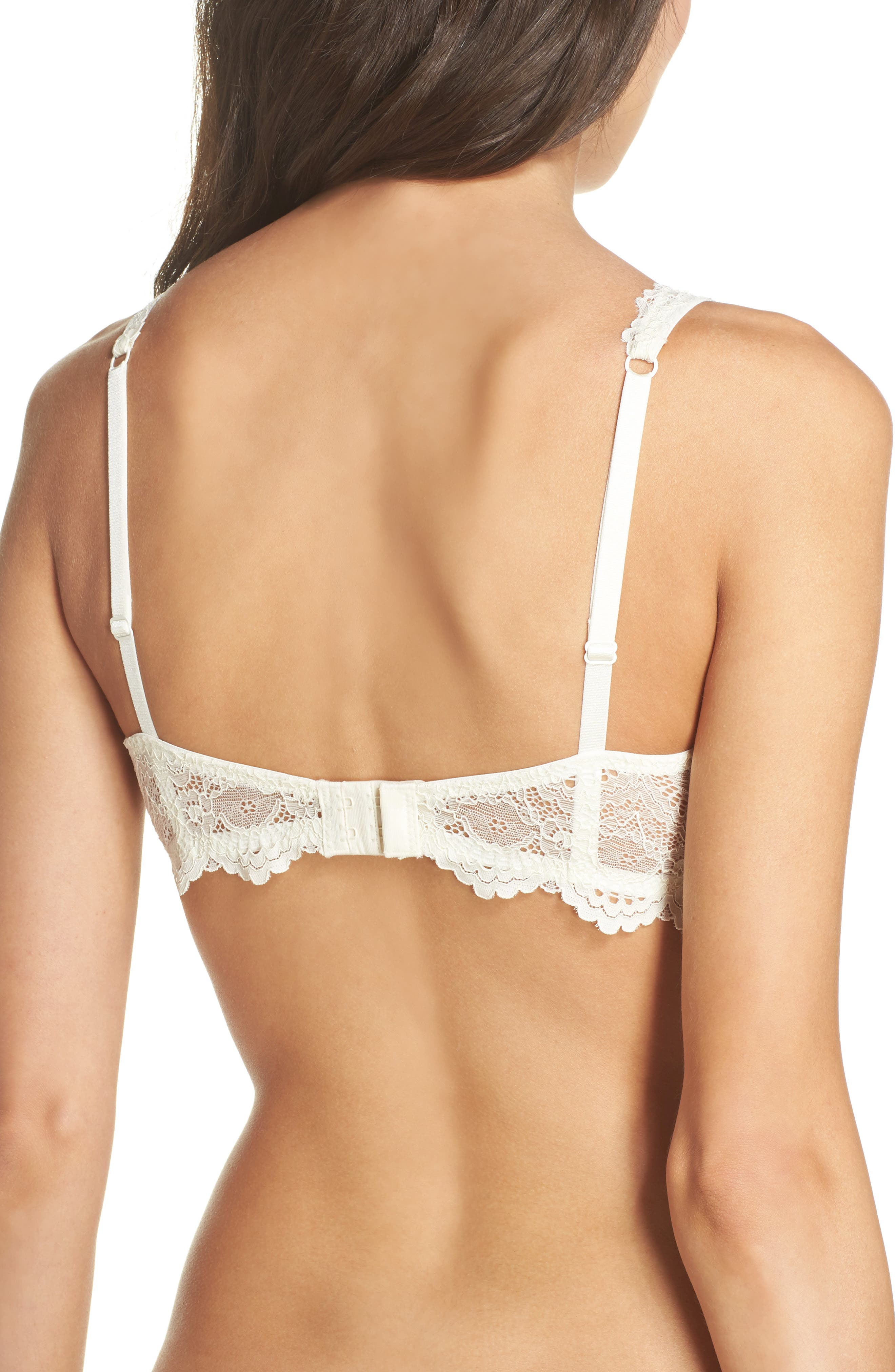 Intimately FP Underwire Plunge Bra,                             Alternate thumbnail 2, color,                             Ivory