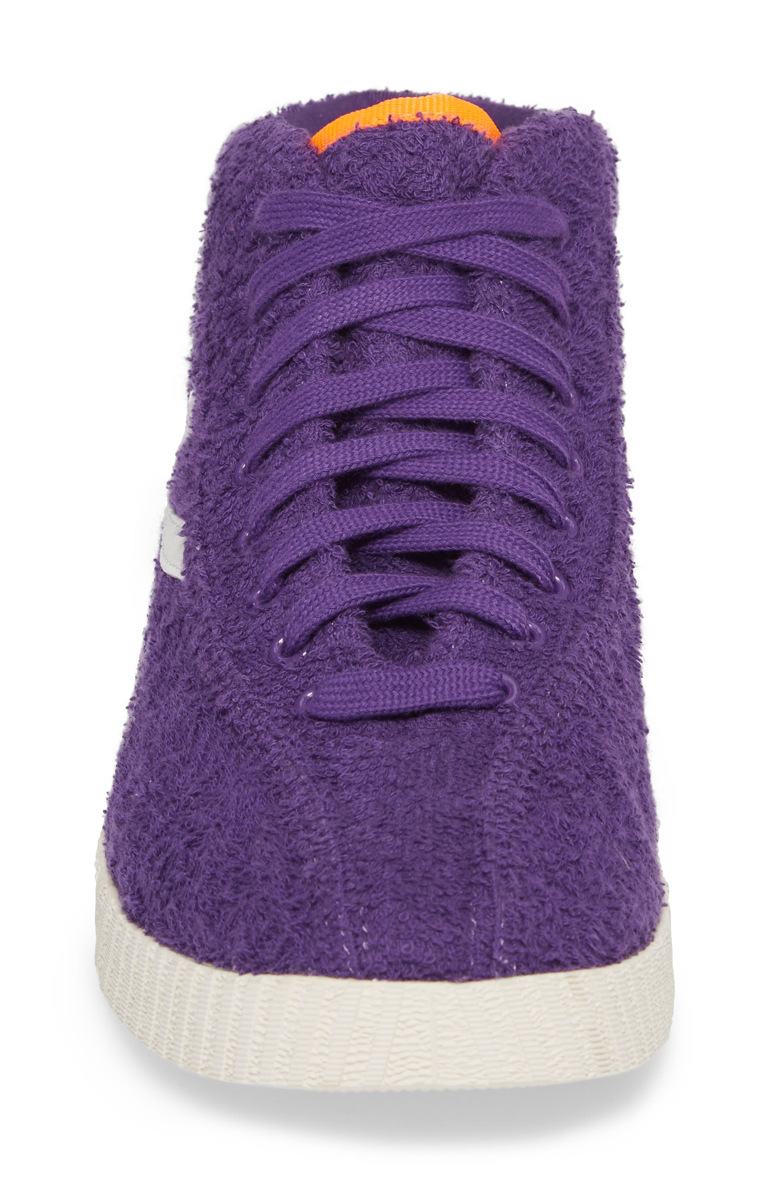Andre 3000 Nylite High Top Sneaker,                             Alternate thumbnail 4, color,                             Vibrant Purple/ Vintage White