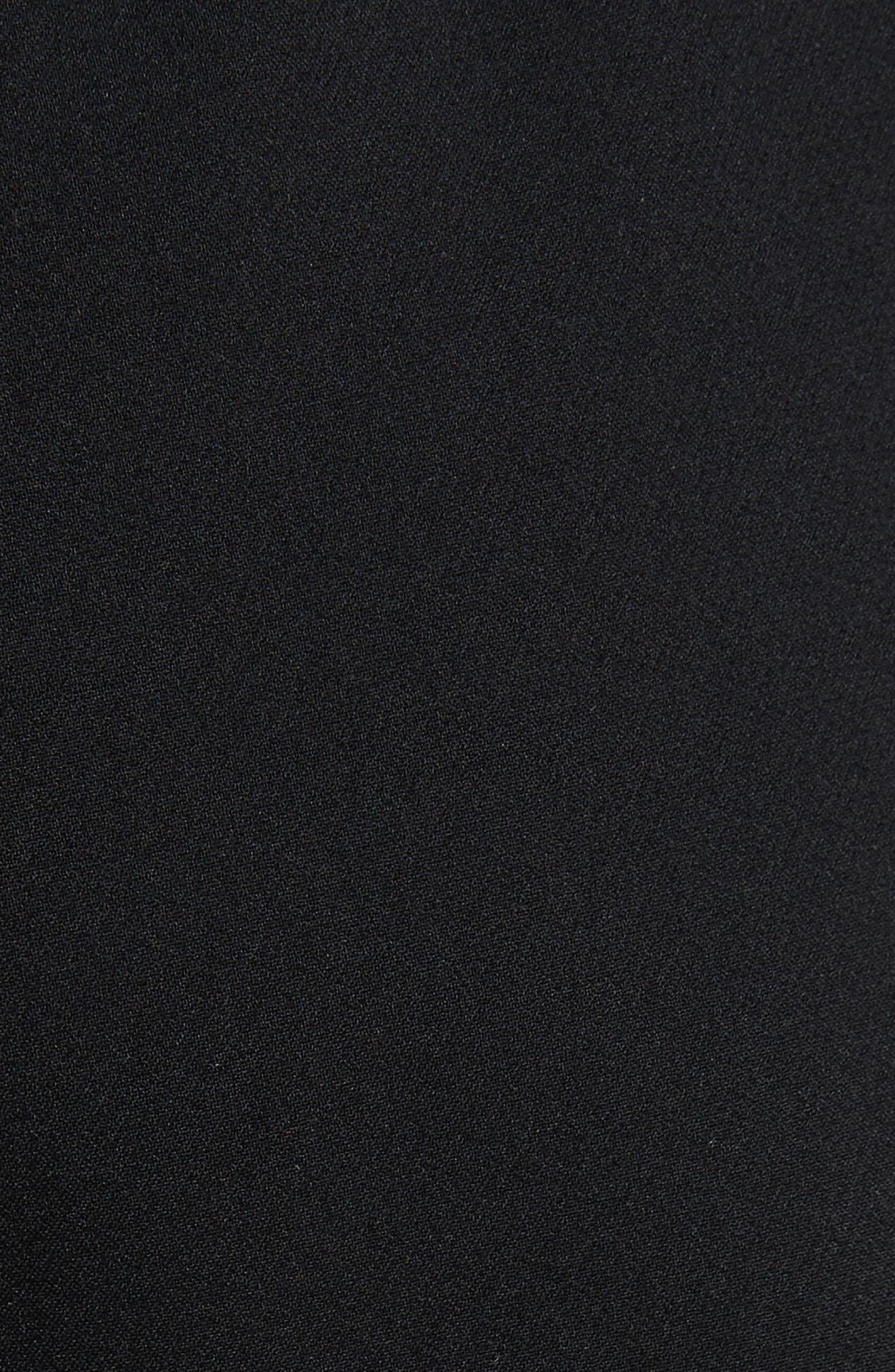 Snap Side Track Pants,                             Alternate thumbnail 5, color,                             Black/ Ivory