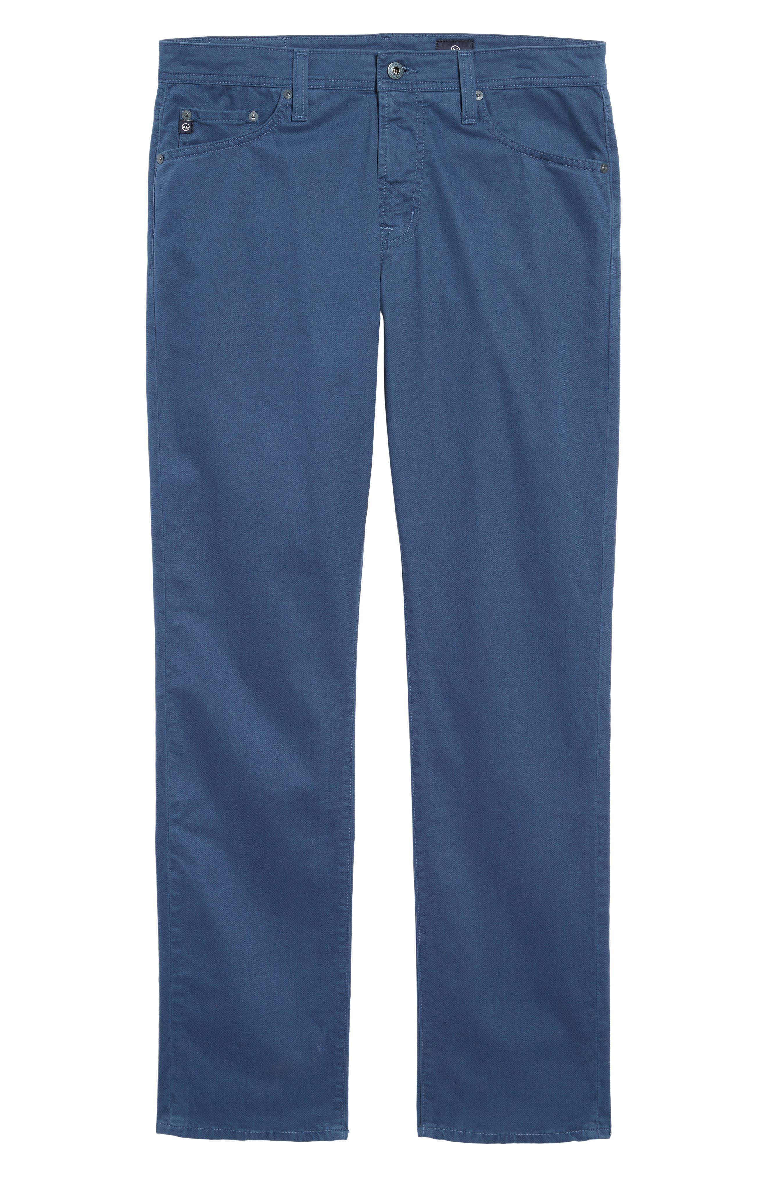 Alternate Image 6  - AG Herringbone Everett SUD Straight Leg Pants