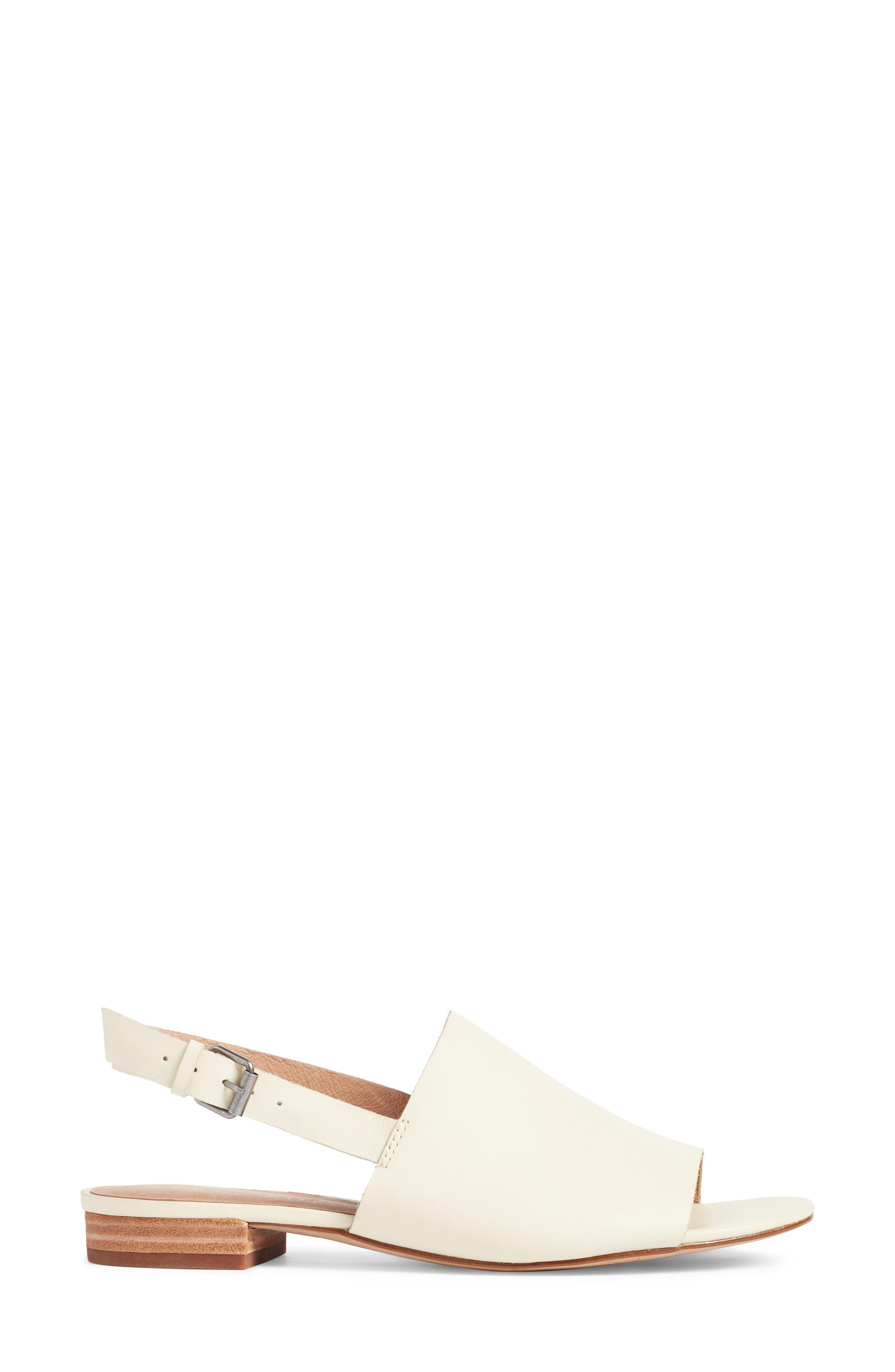 Noelle Slingback Sandal,                             Alternate thumbnail 3, color,                             Vintage Canvas Leather