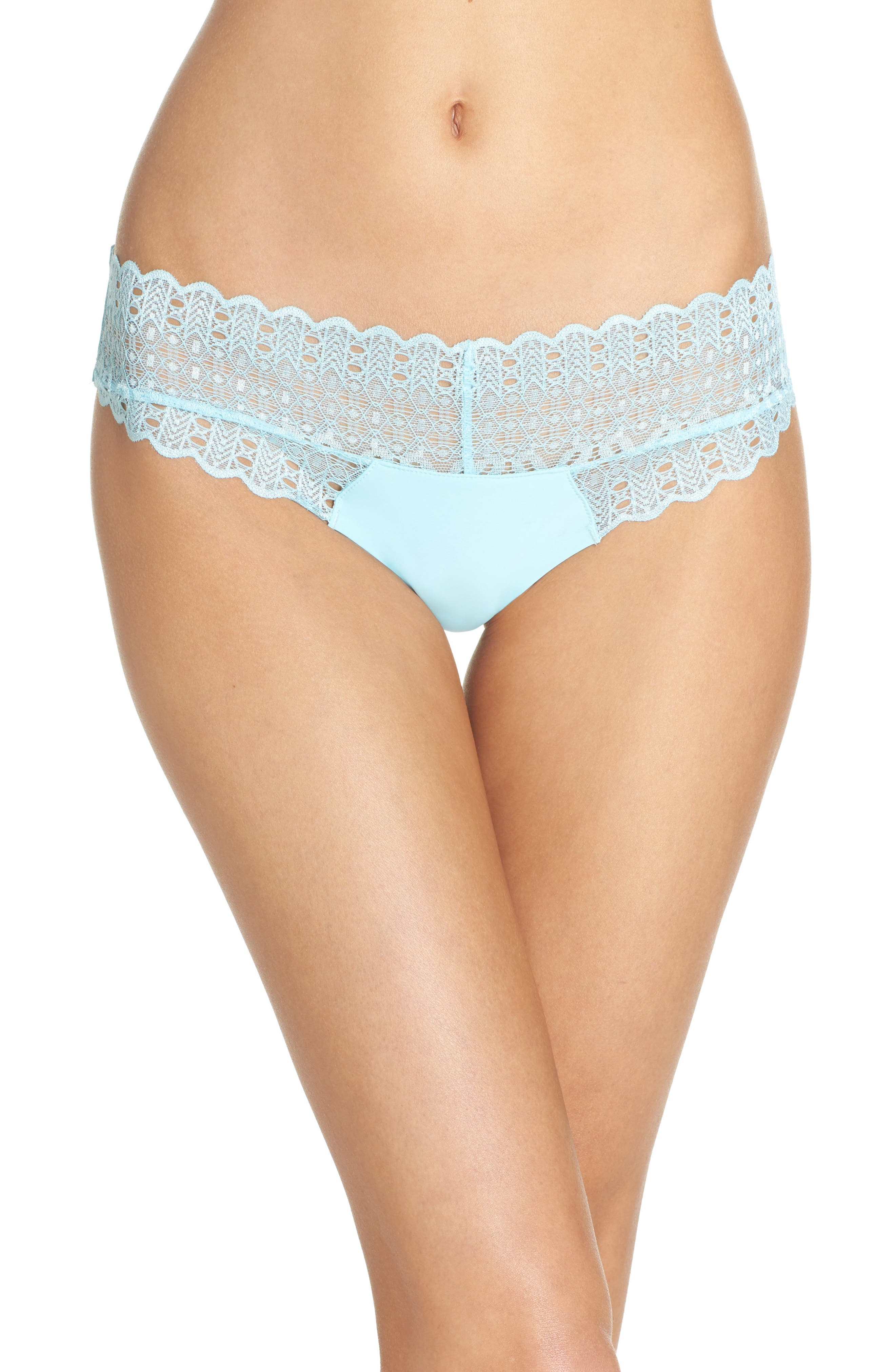 Lace Thong,                         Main,                         color, Marine Mist