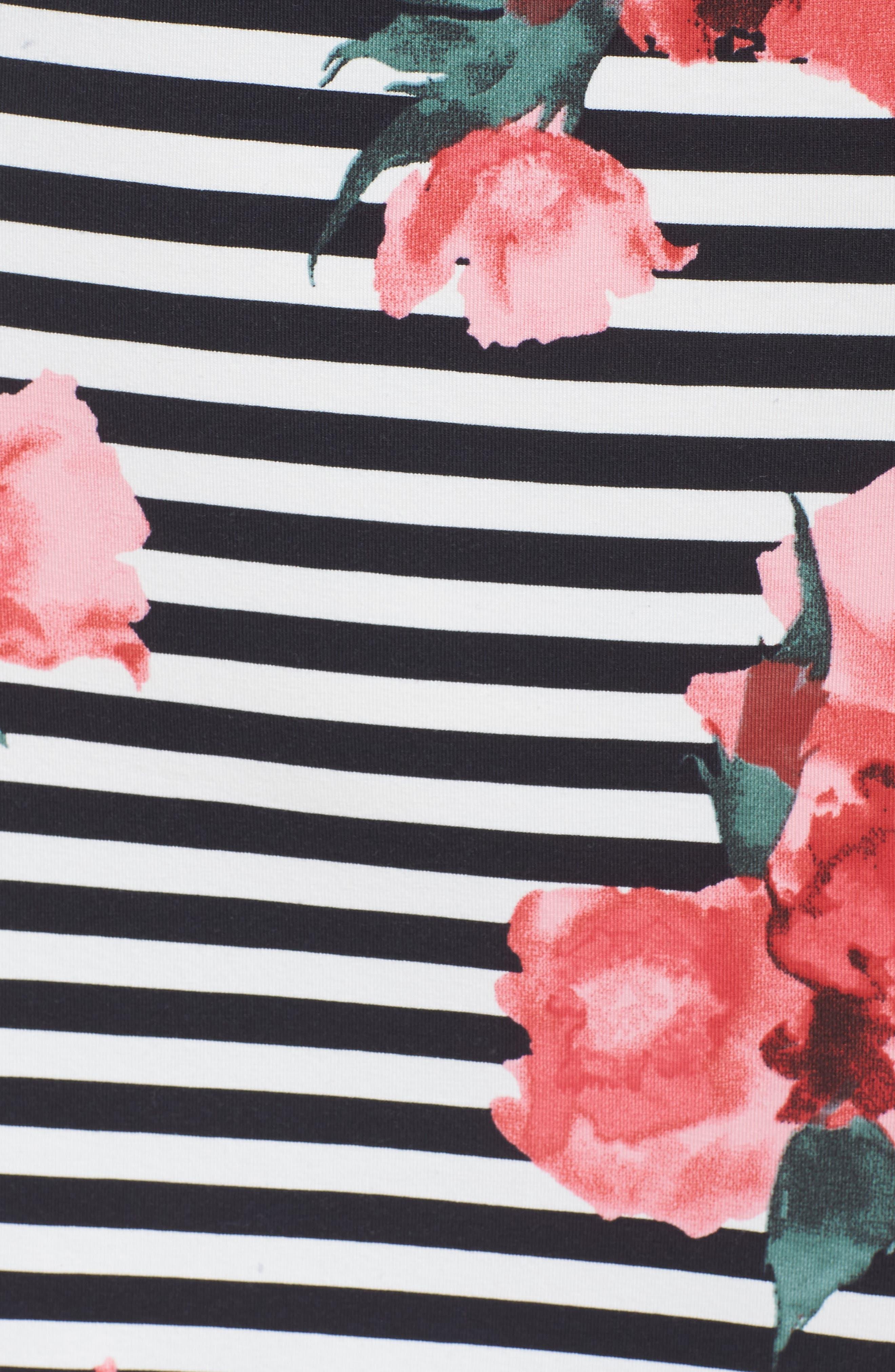 Jude Flower Stripe Knit Dress,                             Alternate thumbnail 5, color,                             Nocturnal Multi