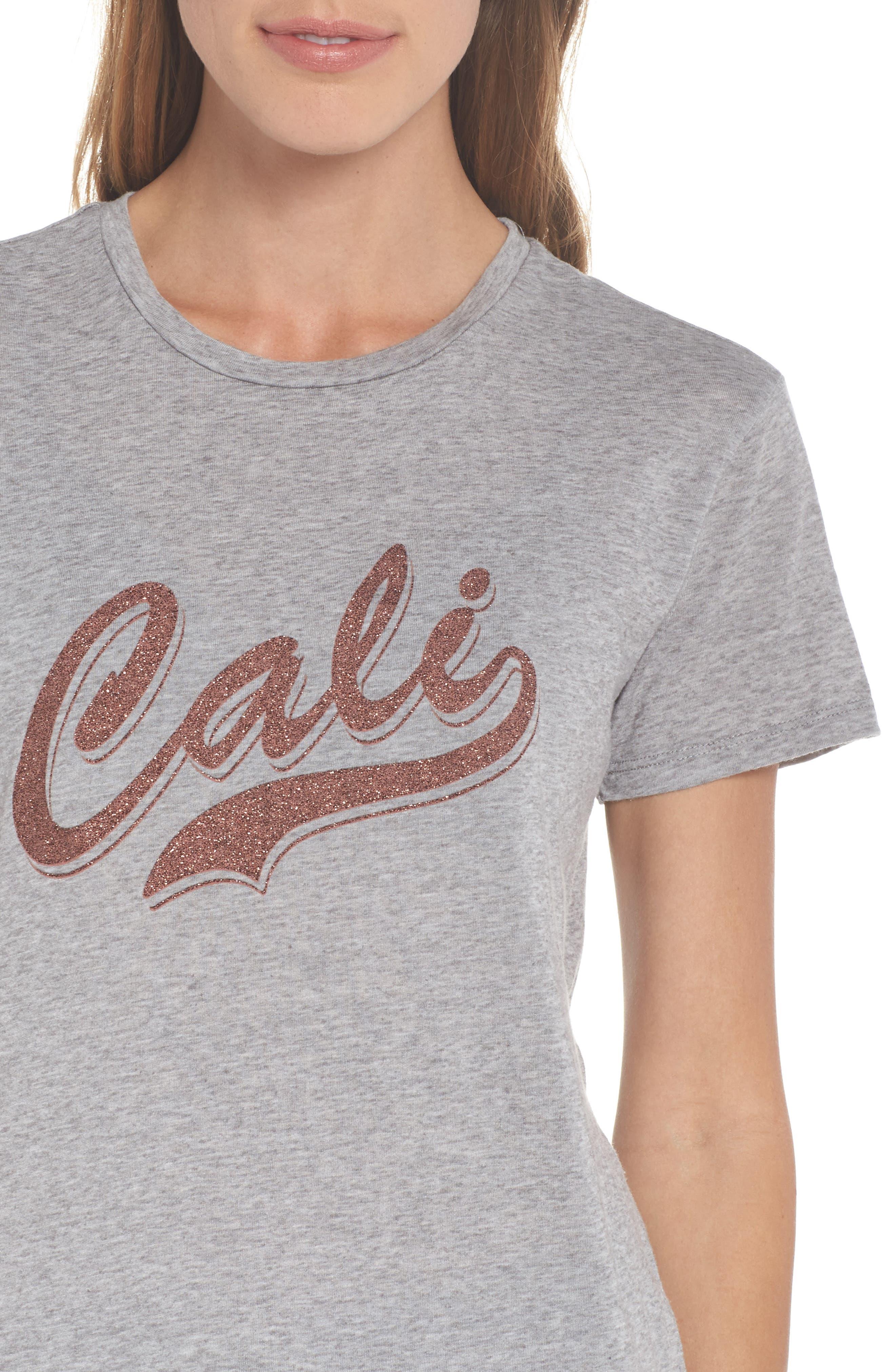 Cali Tee,                             Alternate thumbnail 5, color,                             Heather Grey