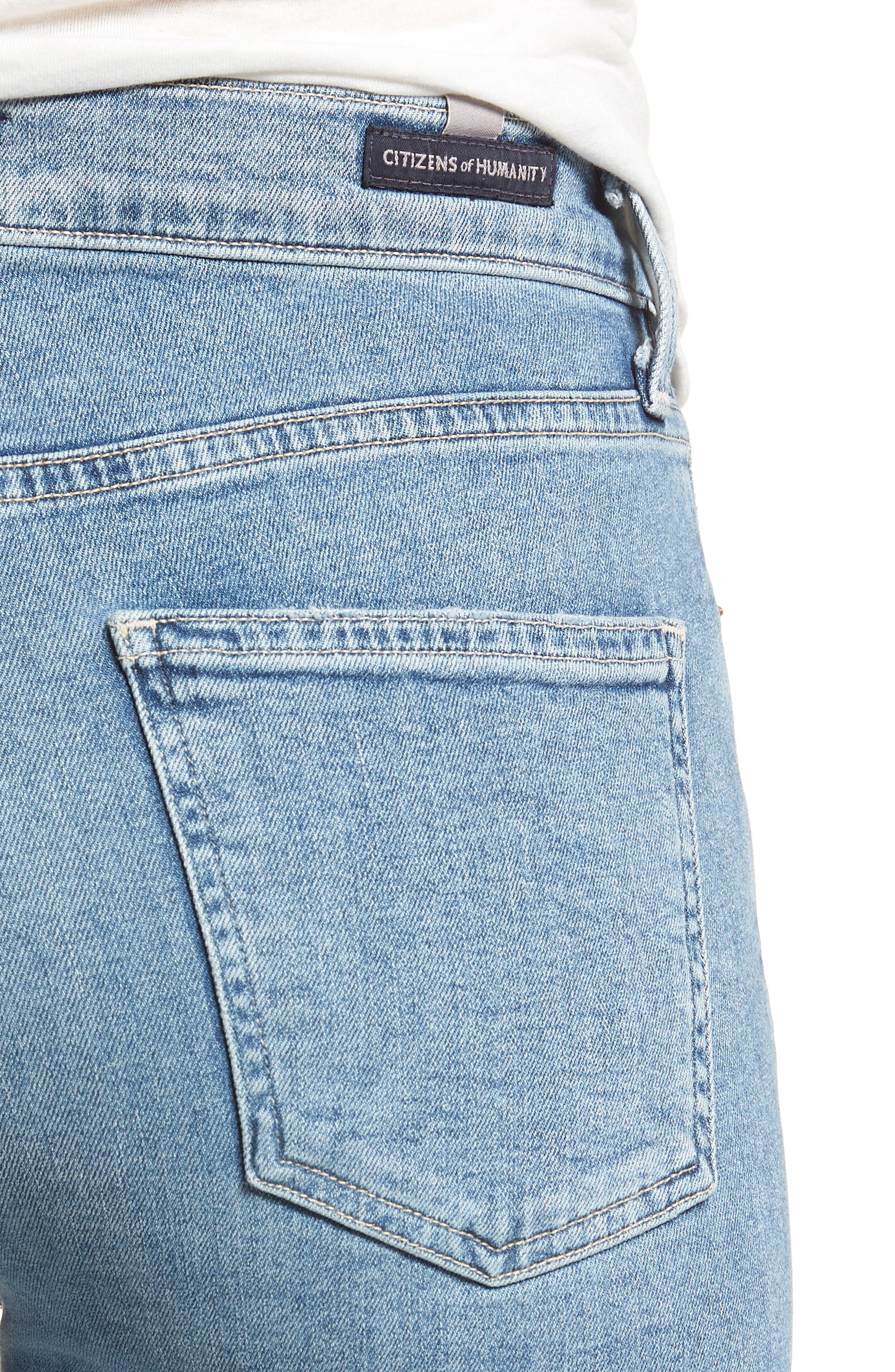 Cara Ankle Cigarette Jeans,                             Alternate thumbnail 4, color,                             Firestone