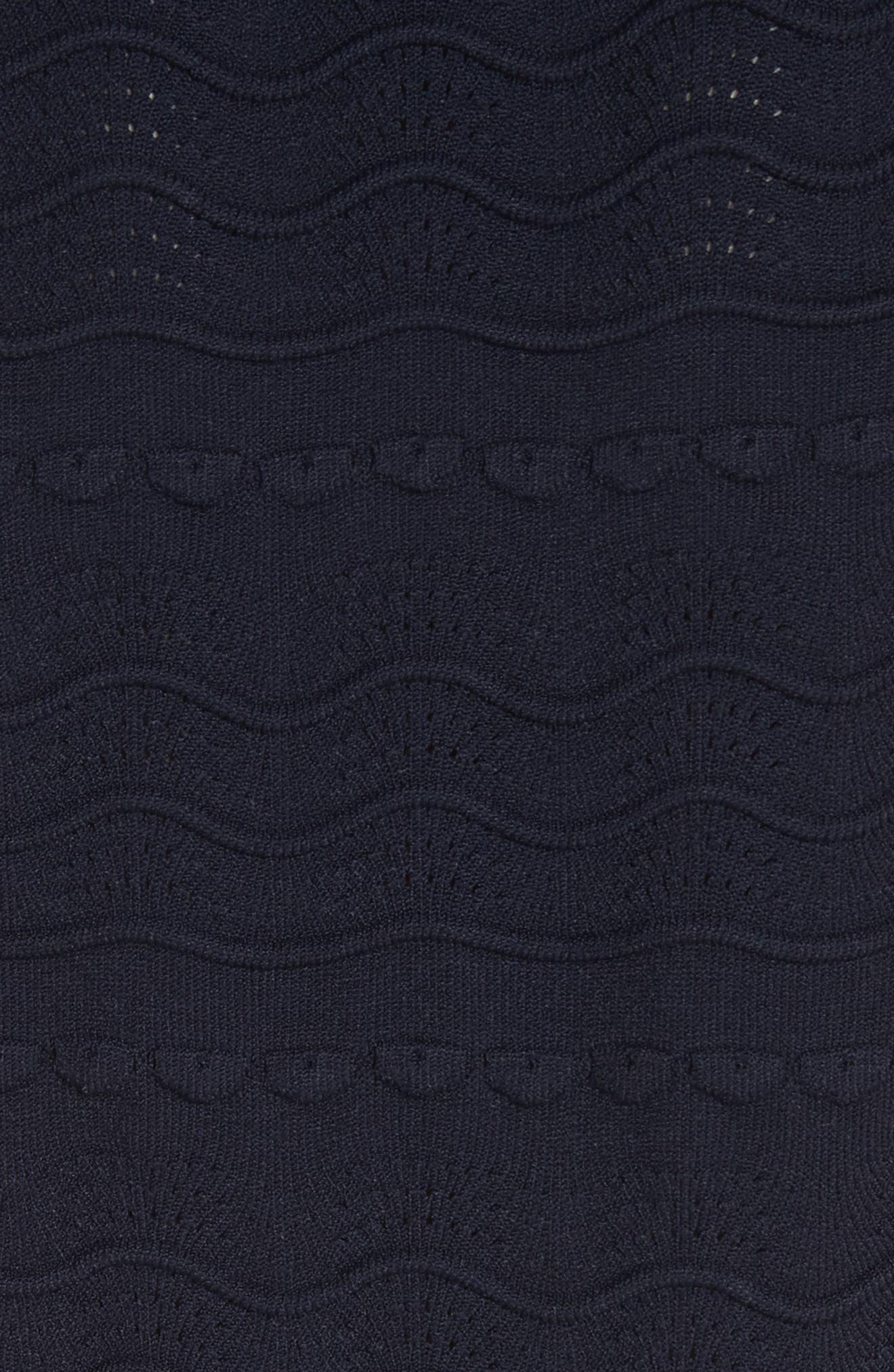 kate spade textured sweater dress,                             Alternate thumbnail 5, color,                             Rich Navy