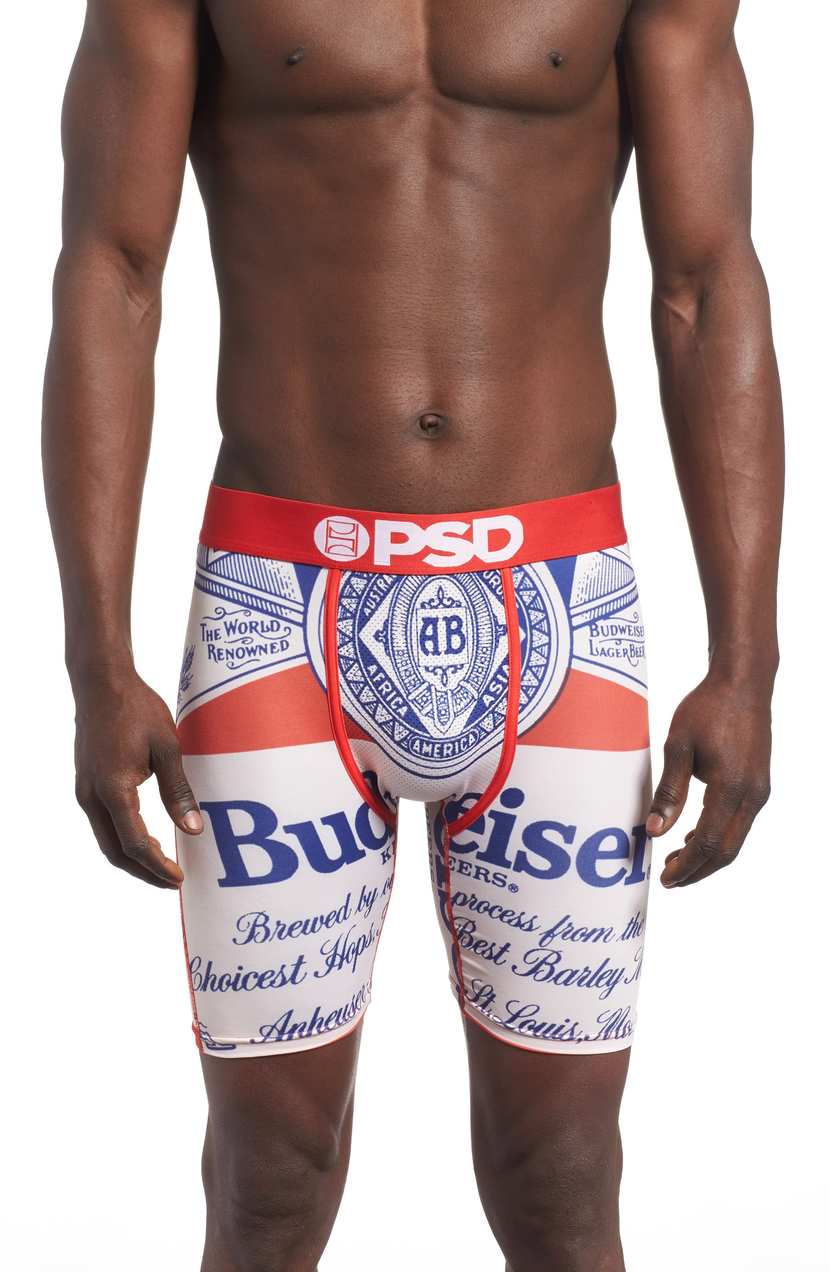 Budweiser Boxer Briefs,                         Main,                         color, Red