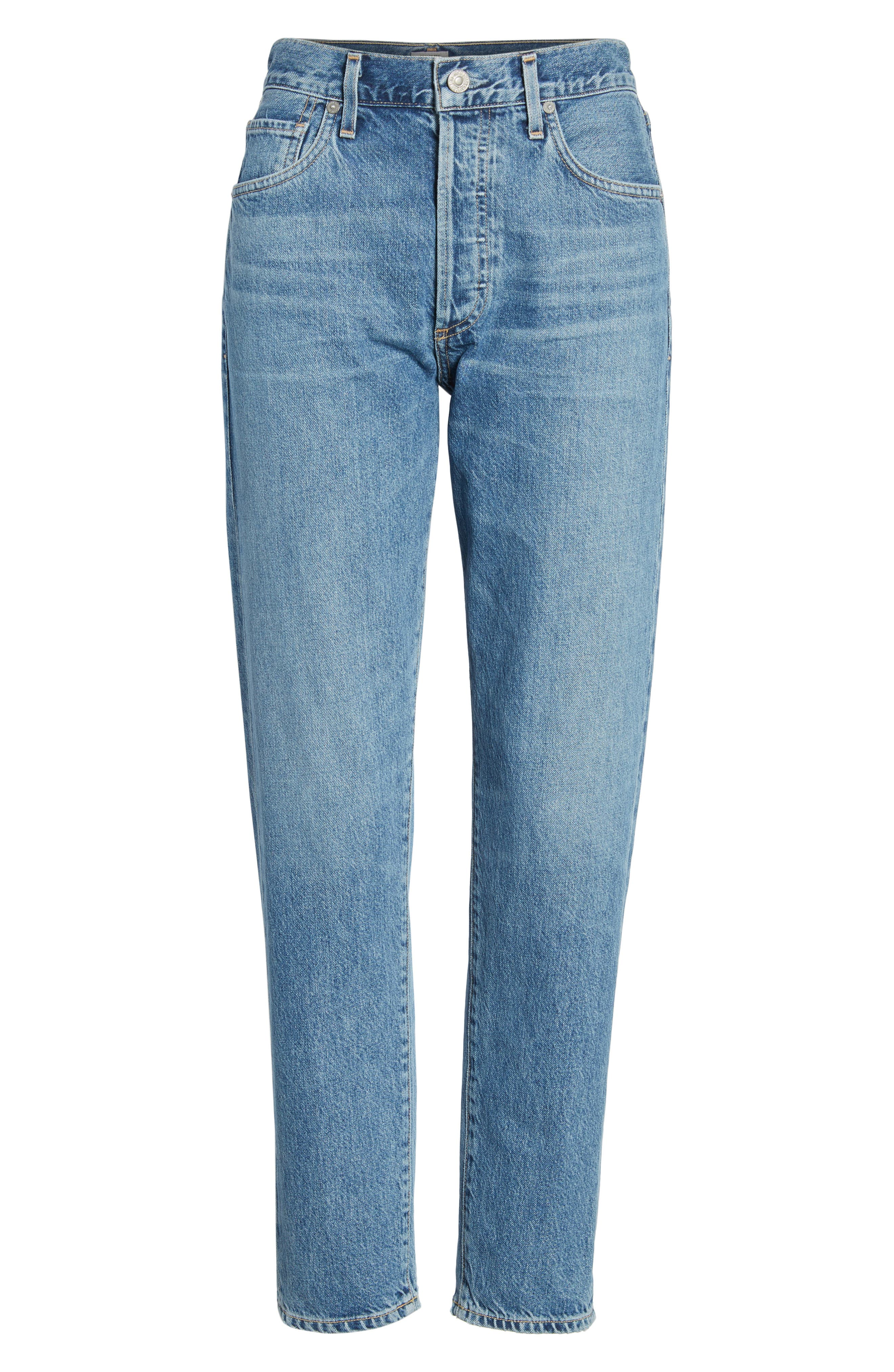 Liya High Waist Slim Boyfriend Jeans,                             Alternate thumbnail 7, color,                             Admire