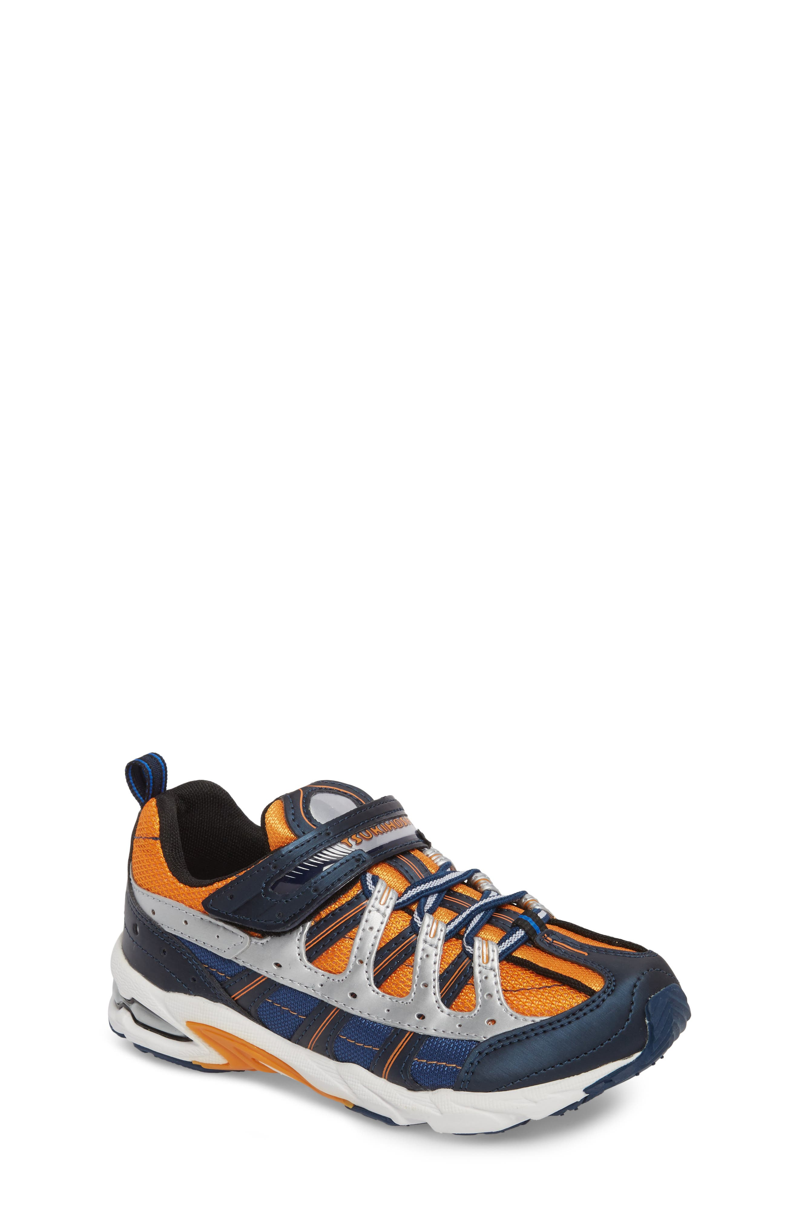 Speed Washable Sneaker,                         Main,                         color, Navy/ Orange