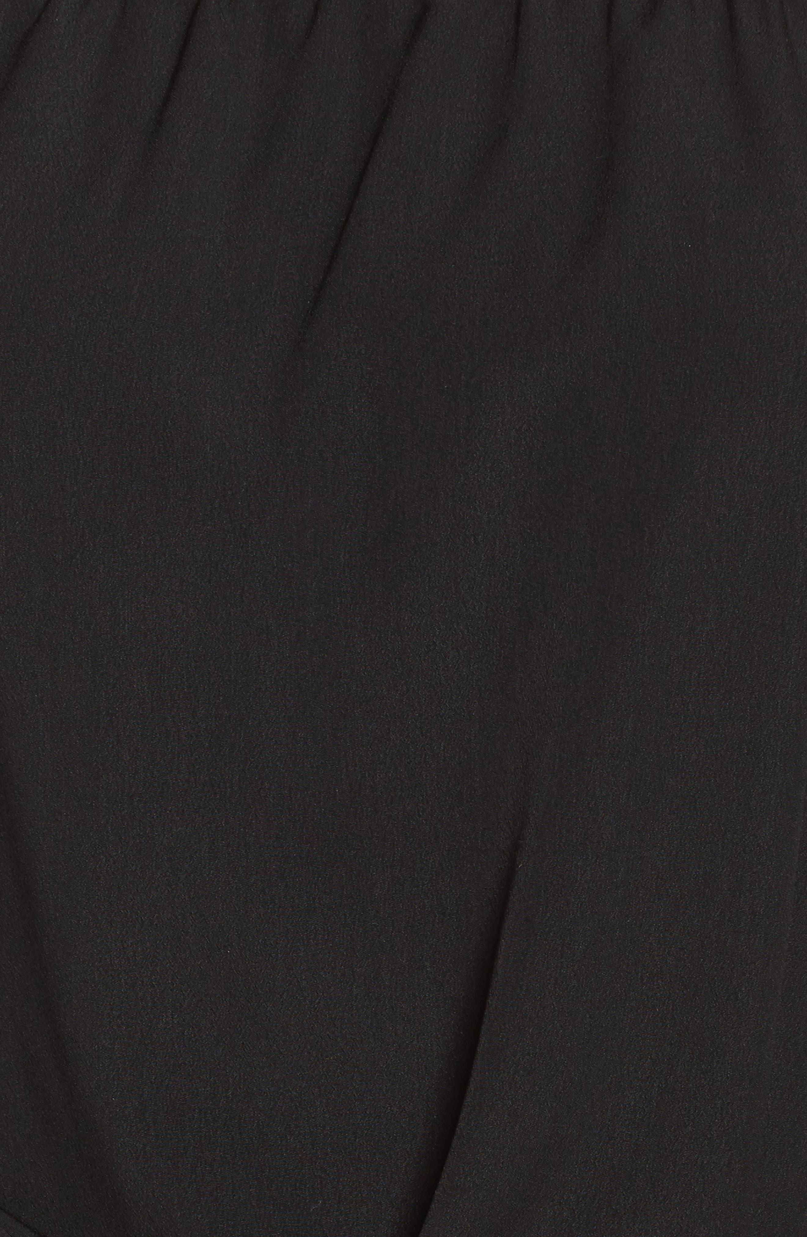 Off the Shoulder Tiered Sleeve Dress,                             Alternate thumbnail 5, color,                             Black