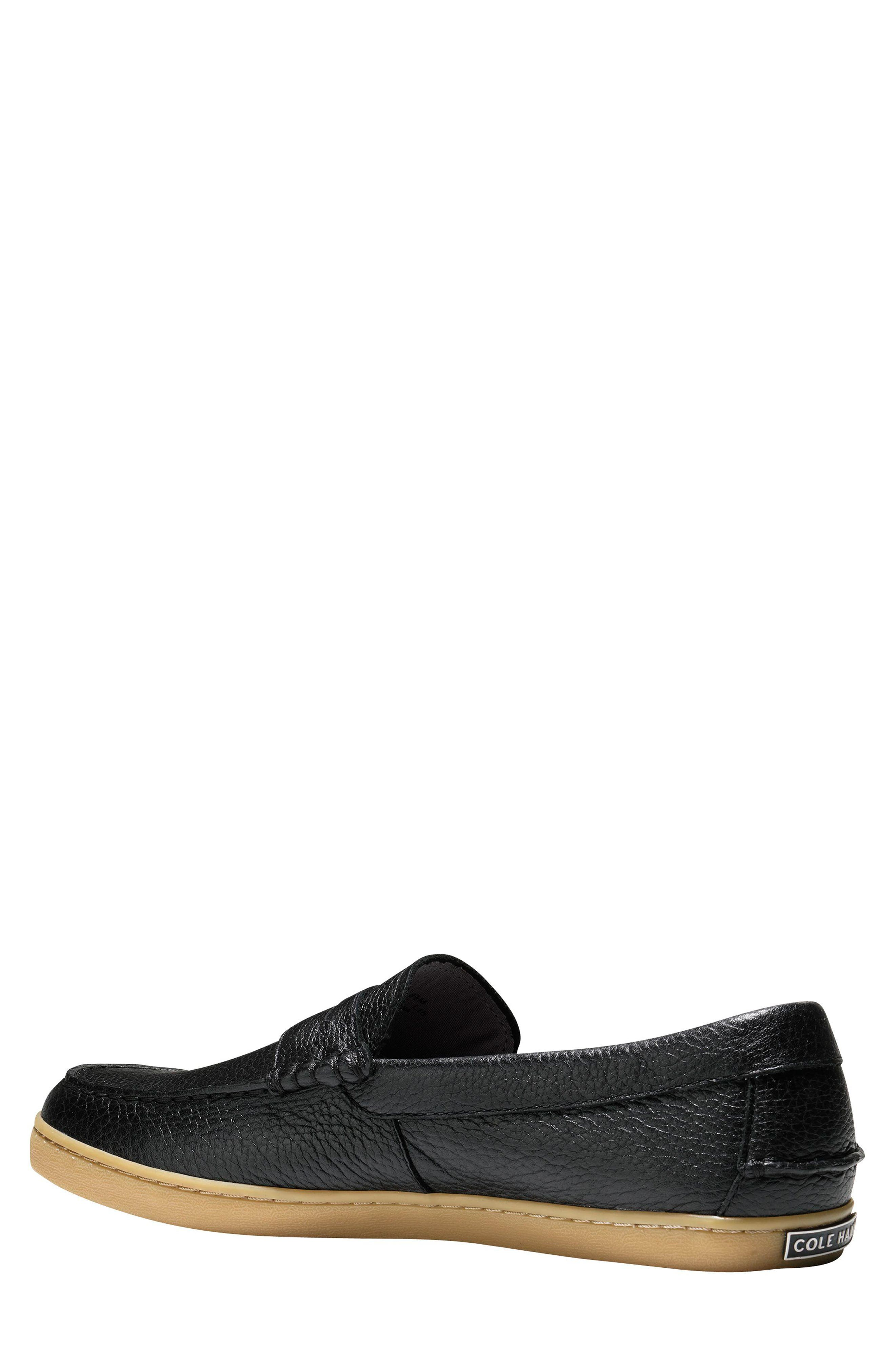 'Pinch Weekend' Penny Loafer,                             Alternate thumbnail 3, color,                             Black Tumble Leather