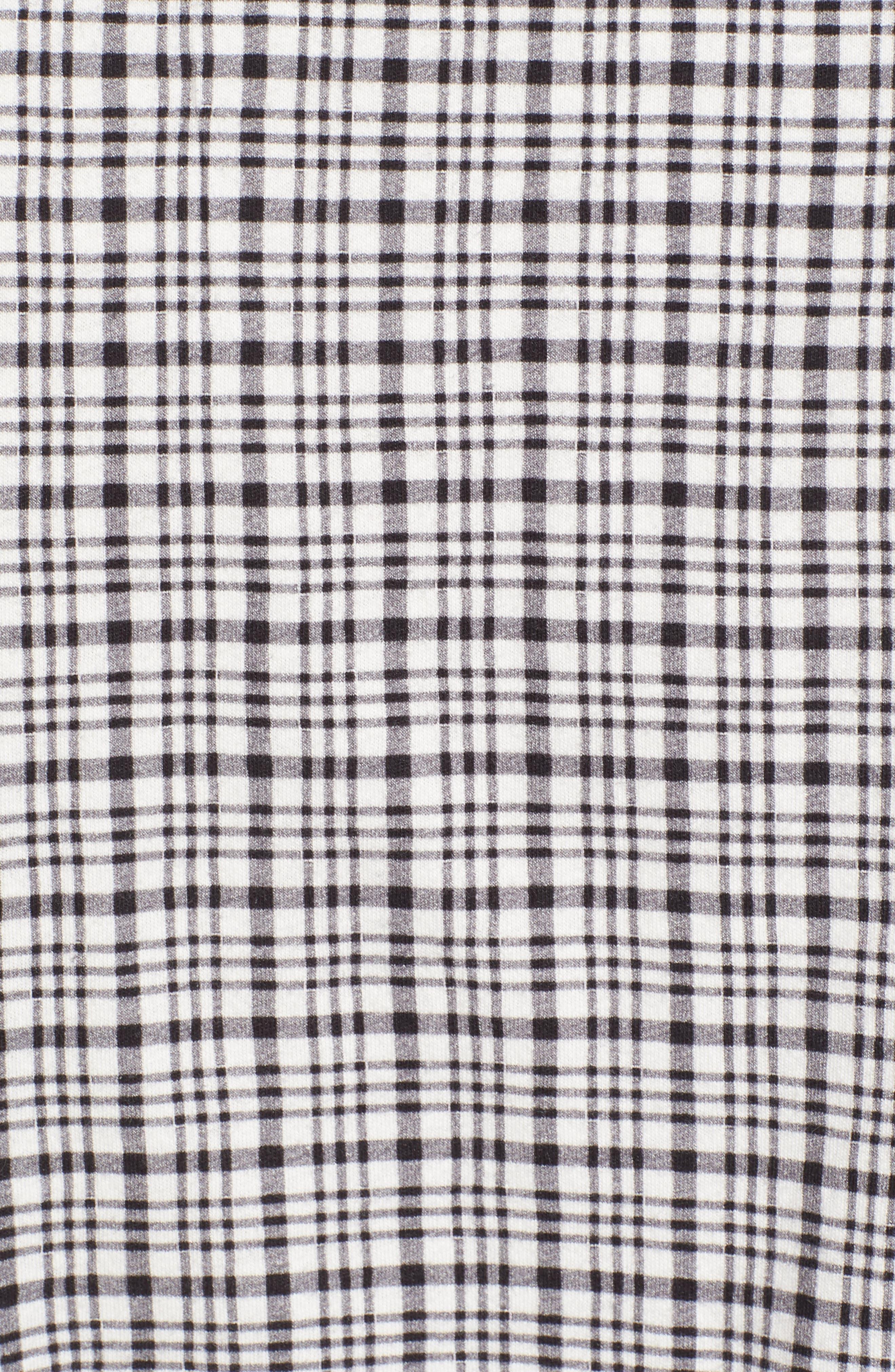 Check Slim Fit Sport Shirt,                             Alternate thumbnail 5, color,                             White/ Black