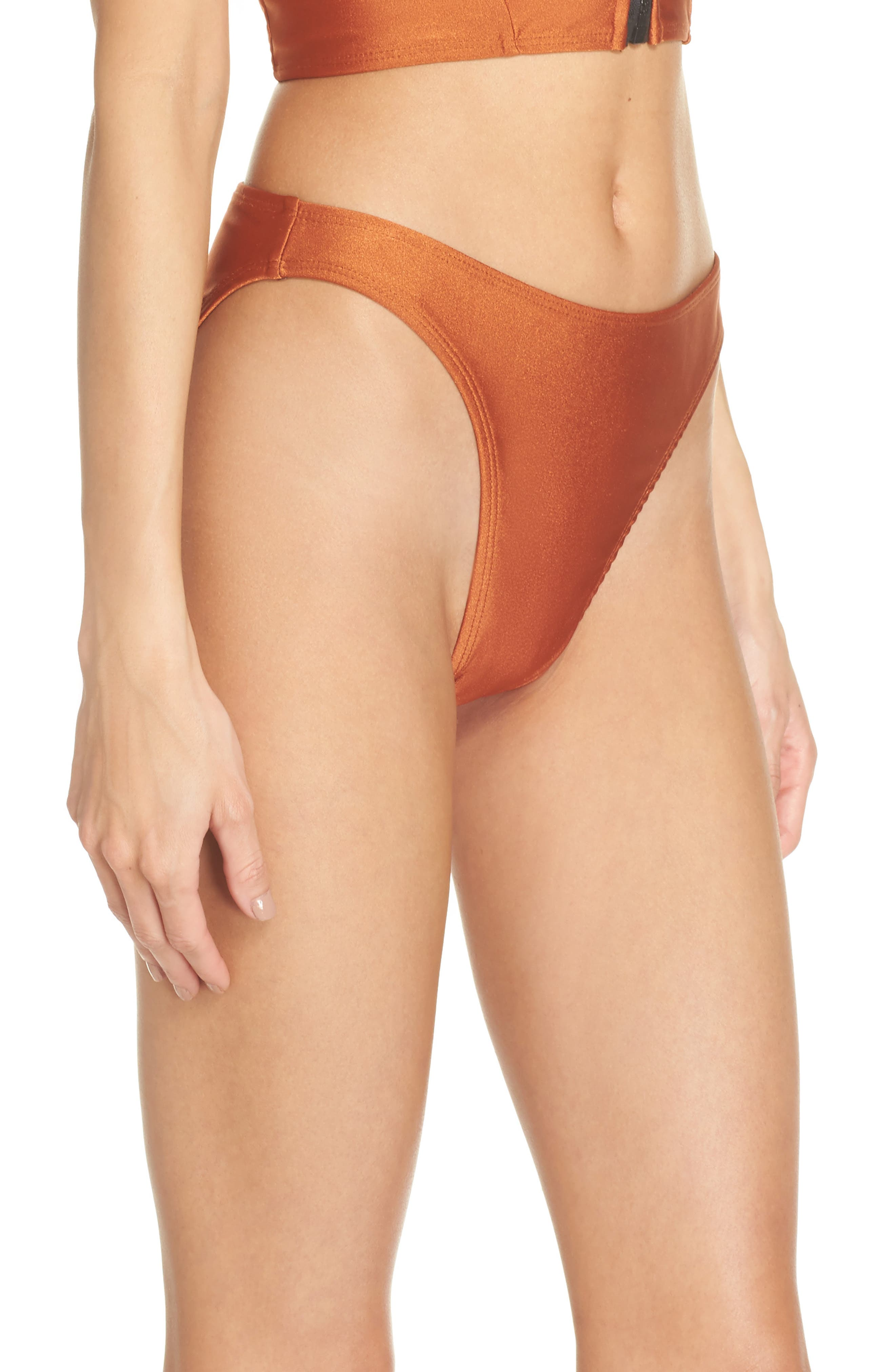 Lindsey Bikini Bottoms,                             Alternate thumbnail 3, color,                             Ginger Orange