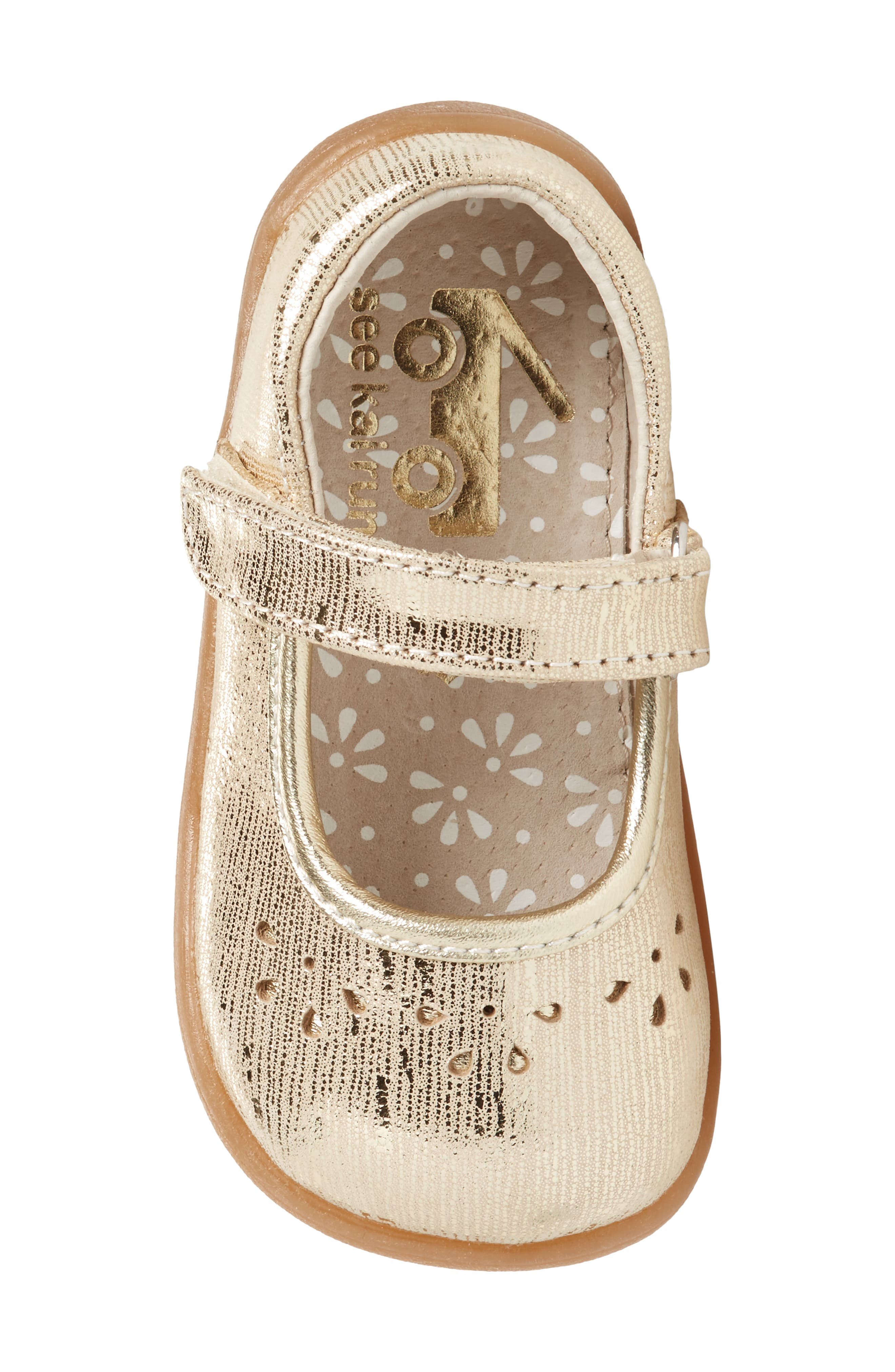 Ginger III Metallic Leather Mary Jane,                             Alternate thumbnail 5, color,                             Gold