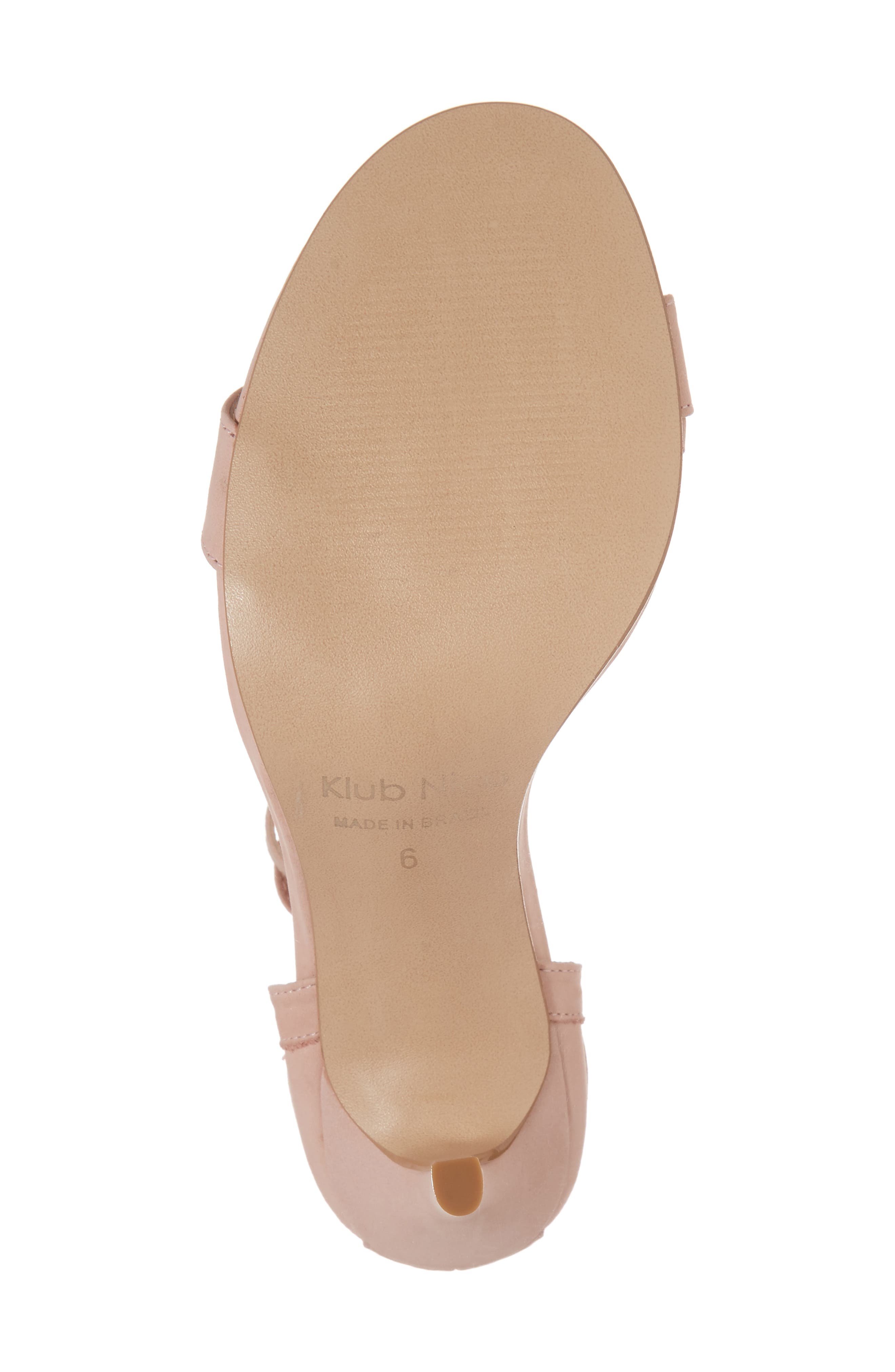 Adelyn Bow Tie Sandal,                             Alternate thumbnail 6, color,                             Quartz Leather