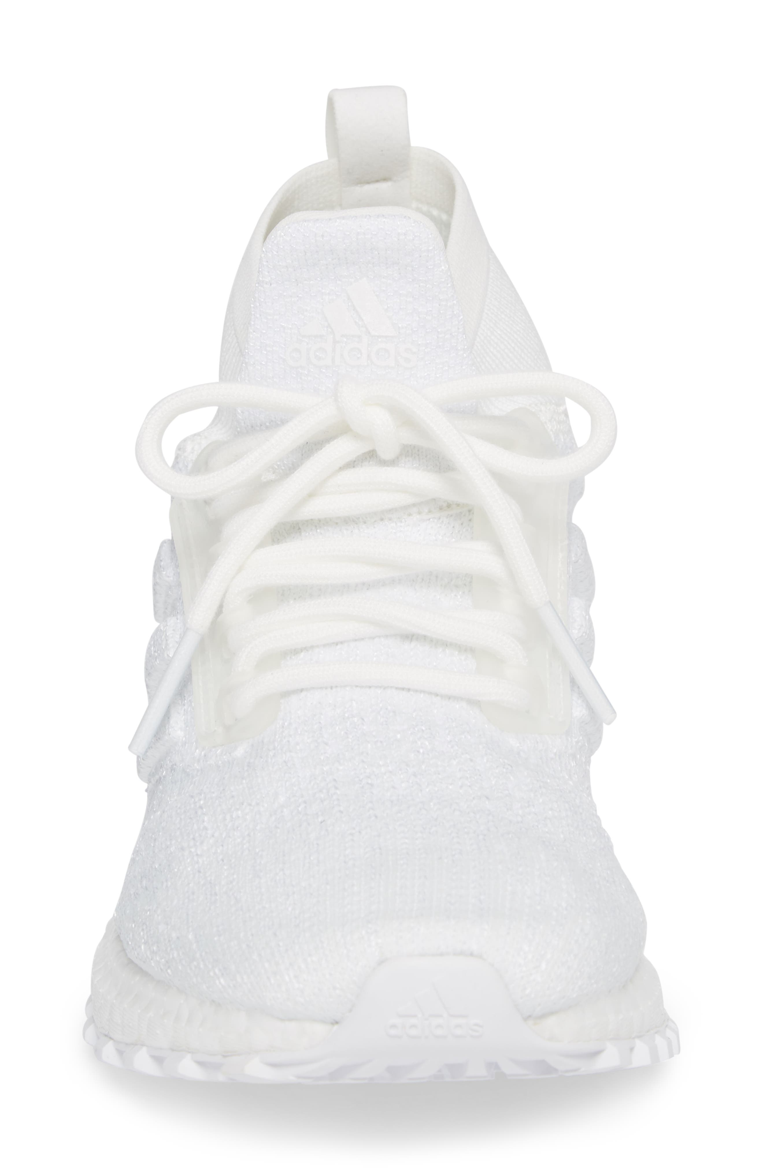 UltraBoost All Terrain Water Resistant Running Shoe,                             Alternate thumbnail 4, color,                             Non-Dyed White