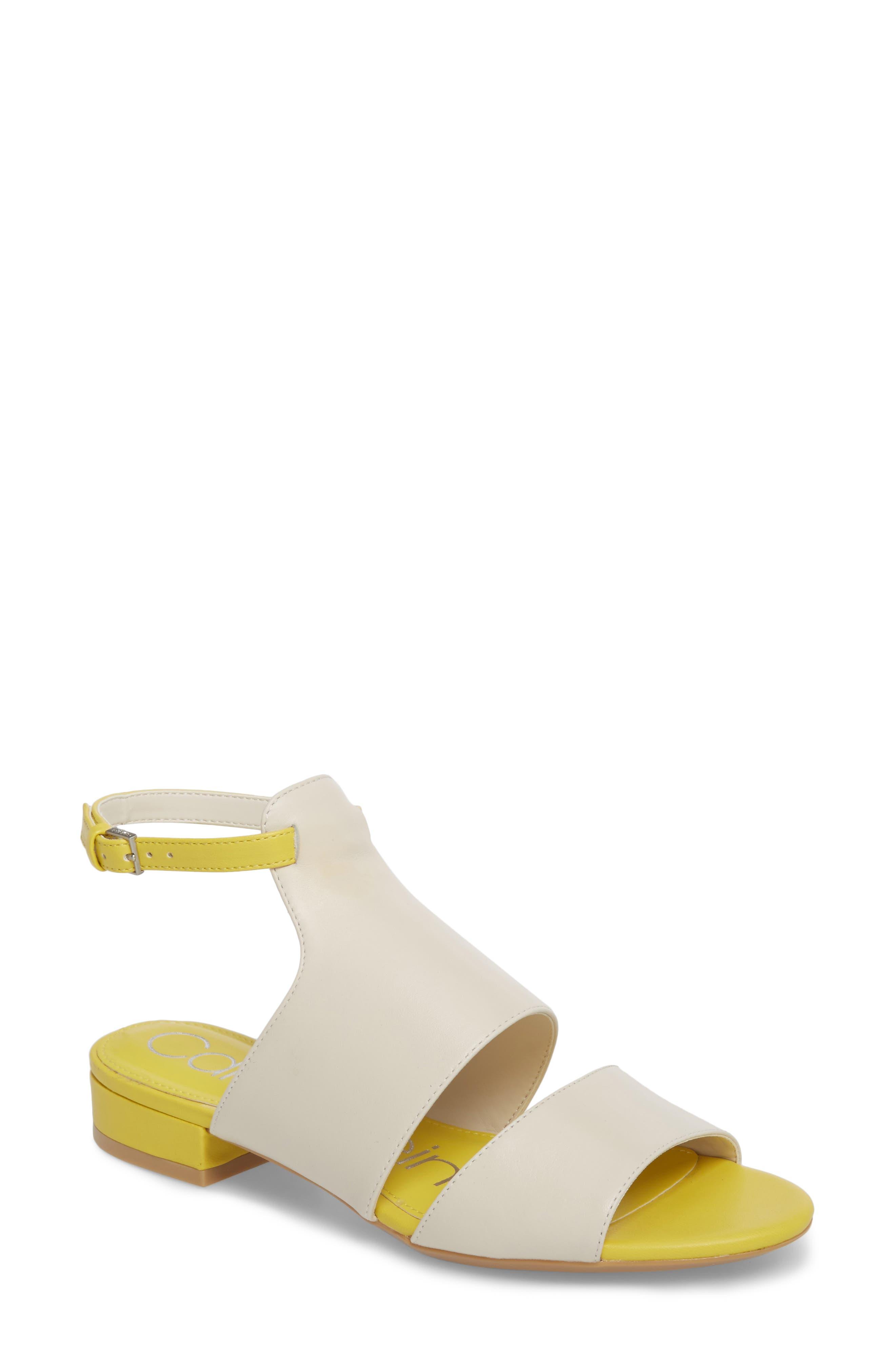 Fernarda Sandal,                             Main thumbnail 1, color,                             Soft White Leather