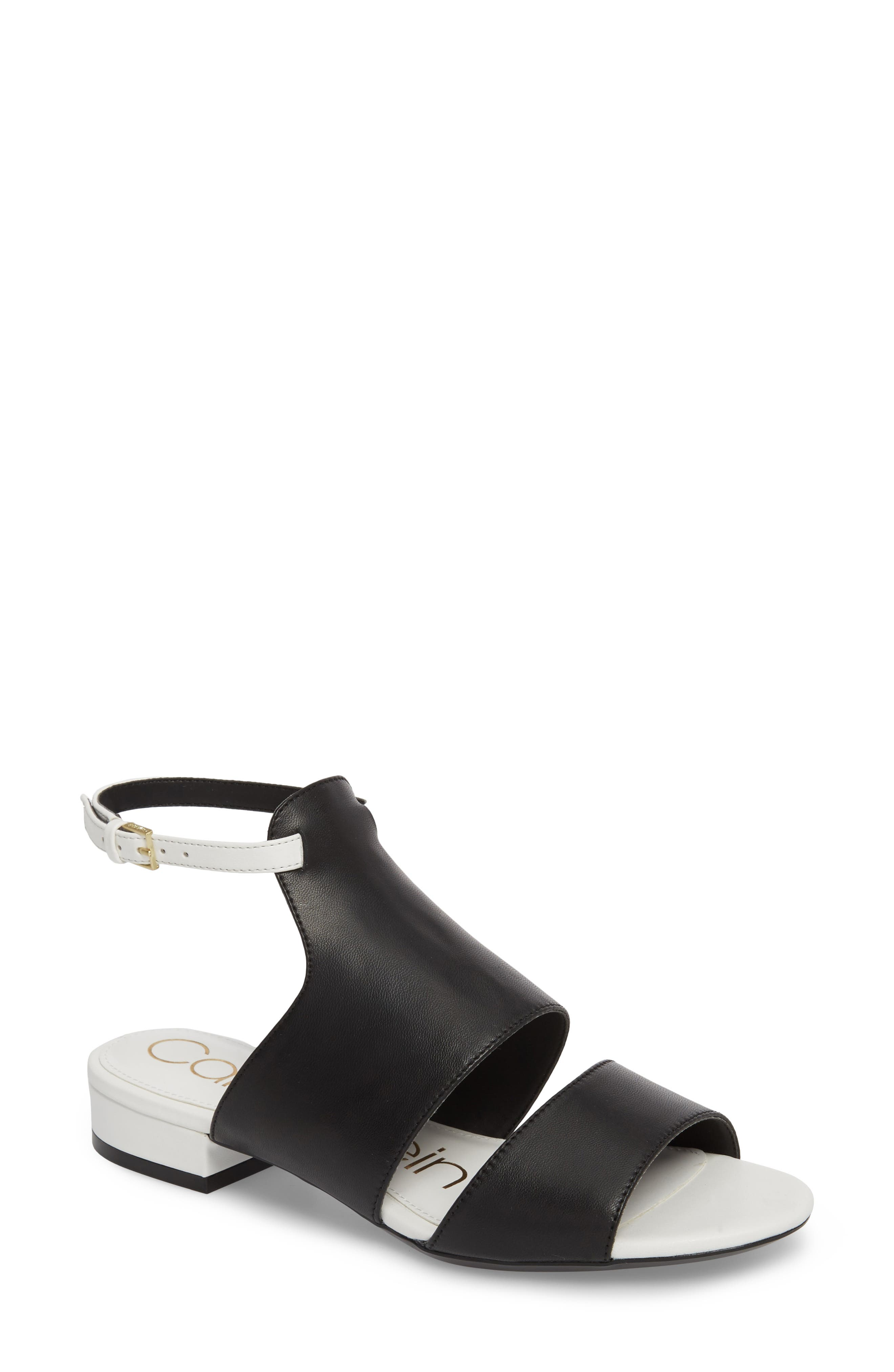 Fernarda Sandal,                         Main,                         color, Black Leather