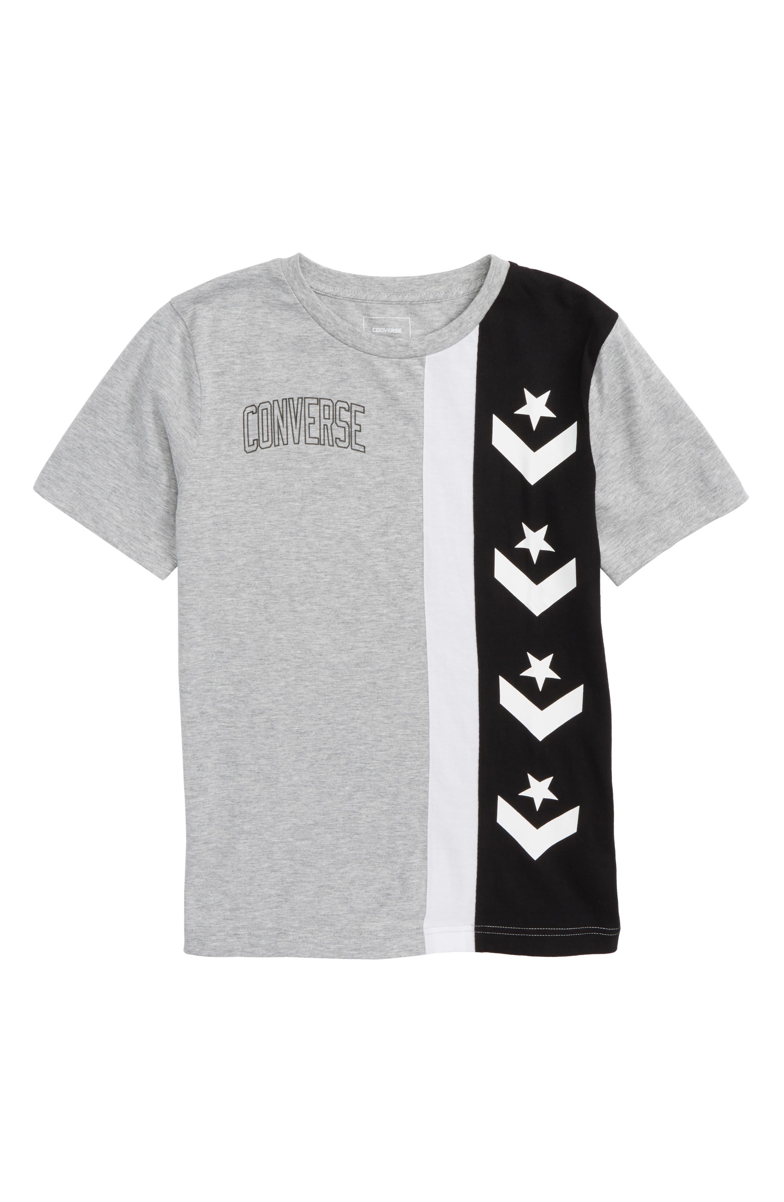Stripe T-Shirt,                         Main,                         color, Dark Grey Heather