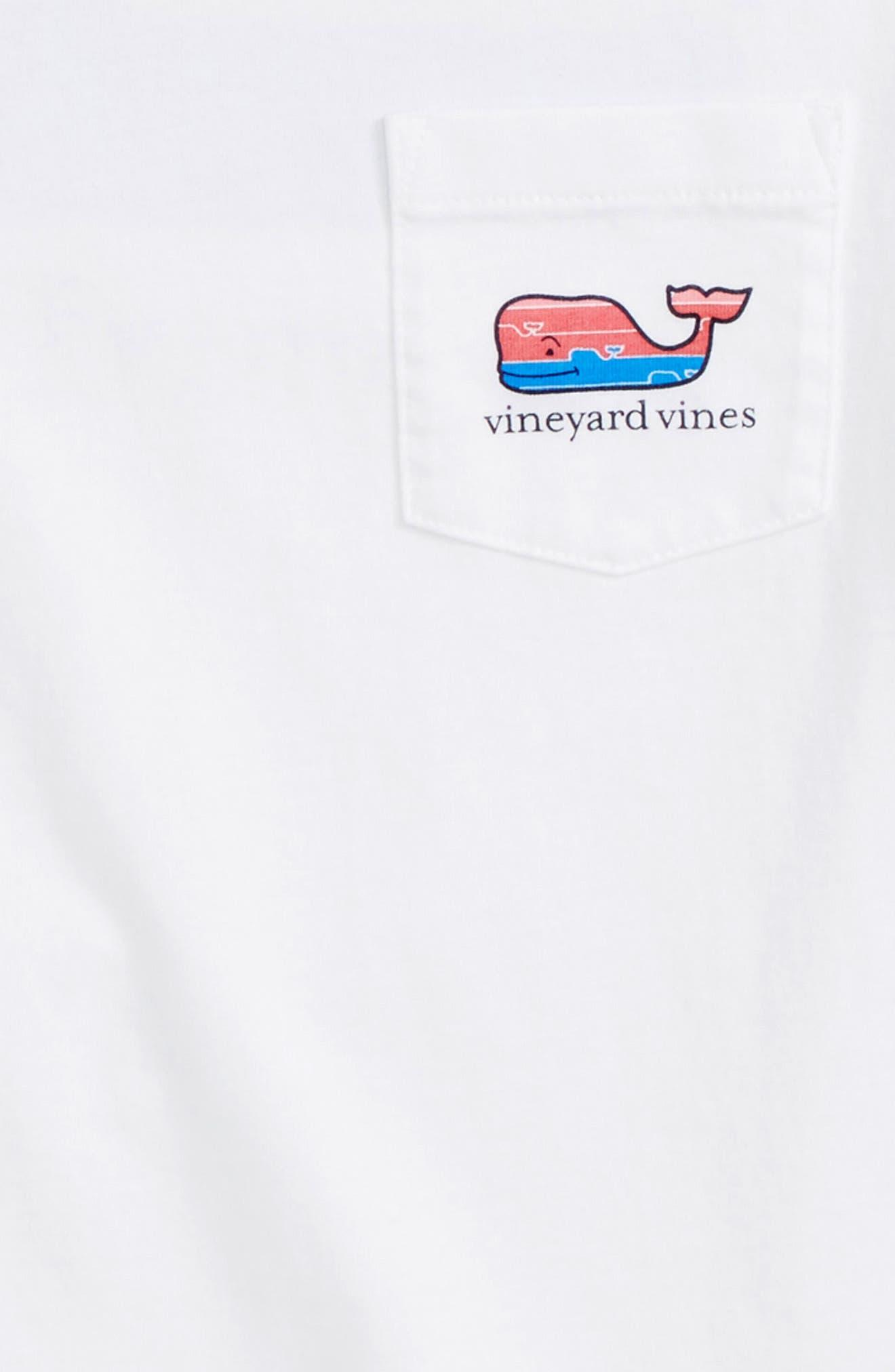 Whale Fill Graphic T-Shirt,                             Alternate thumbnail 3, color,                             White Cap